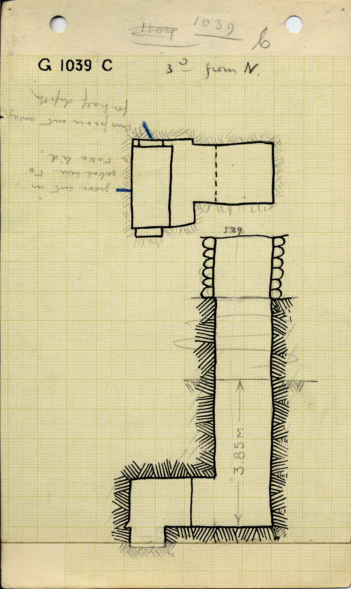 Maps and plans: G 1039, Shaft C