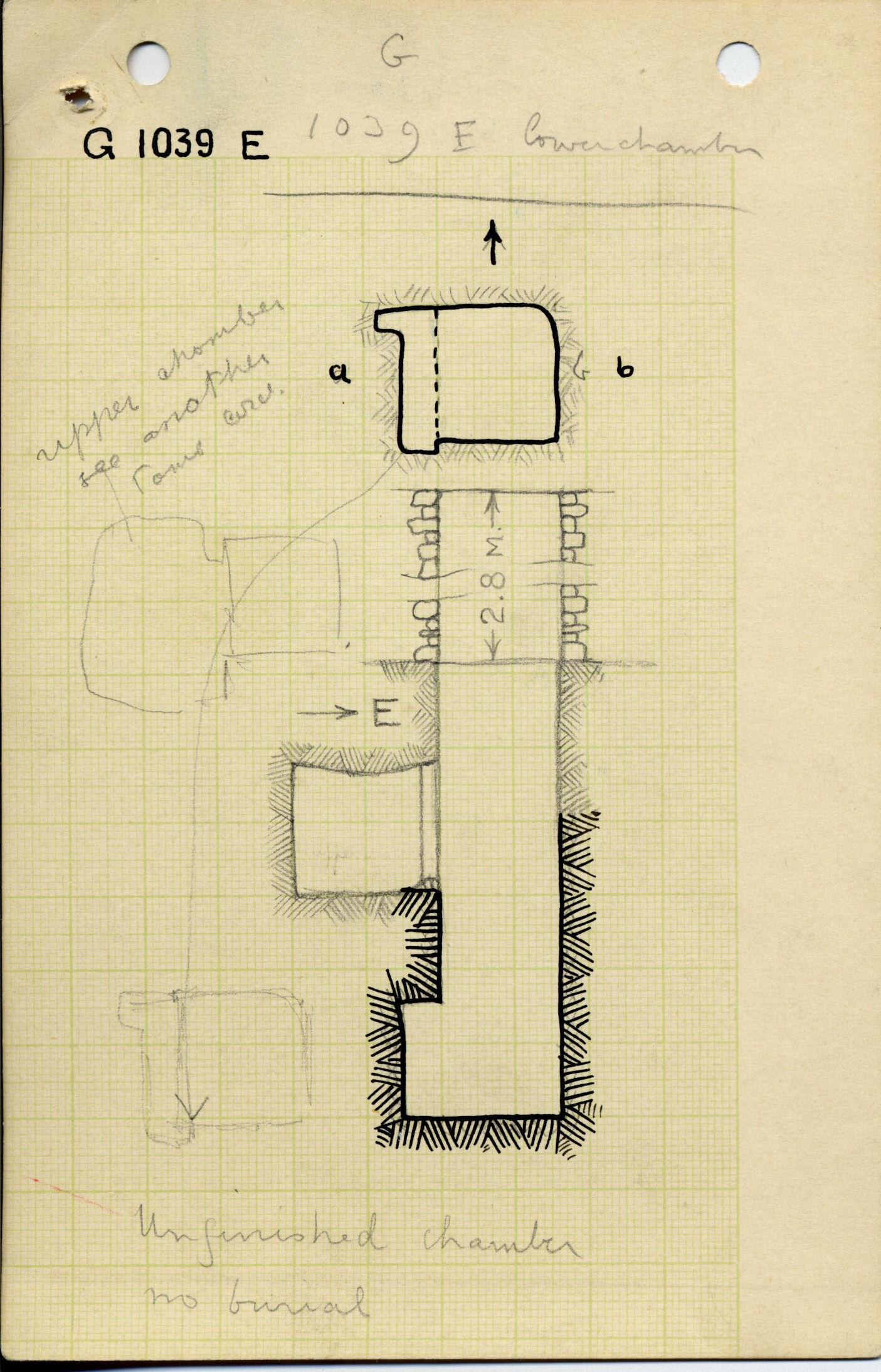 Maps and plans: G 1039, Shaft E (II)
