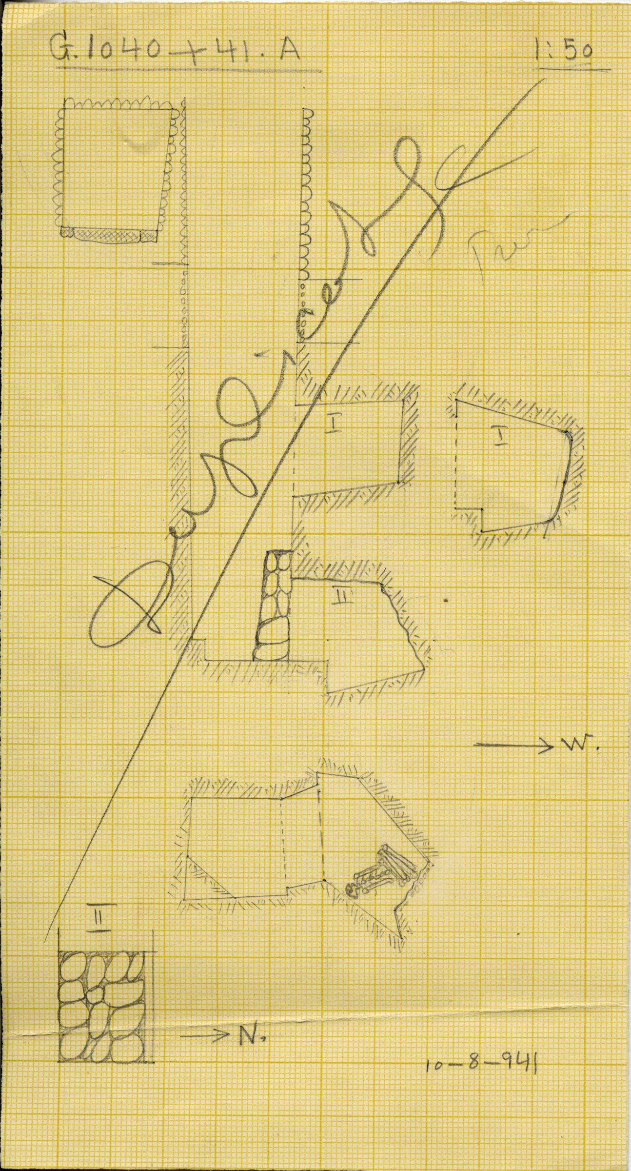 Maps and plans: G 1040+1041, Shaft A