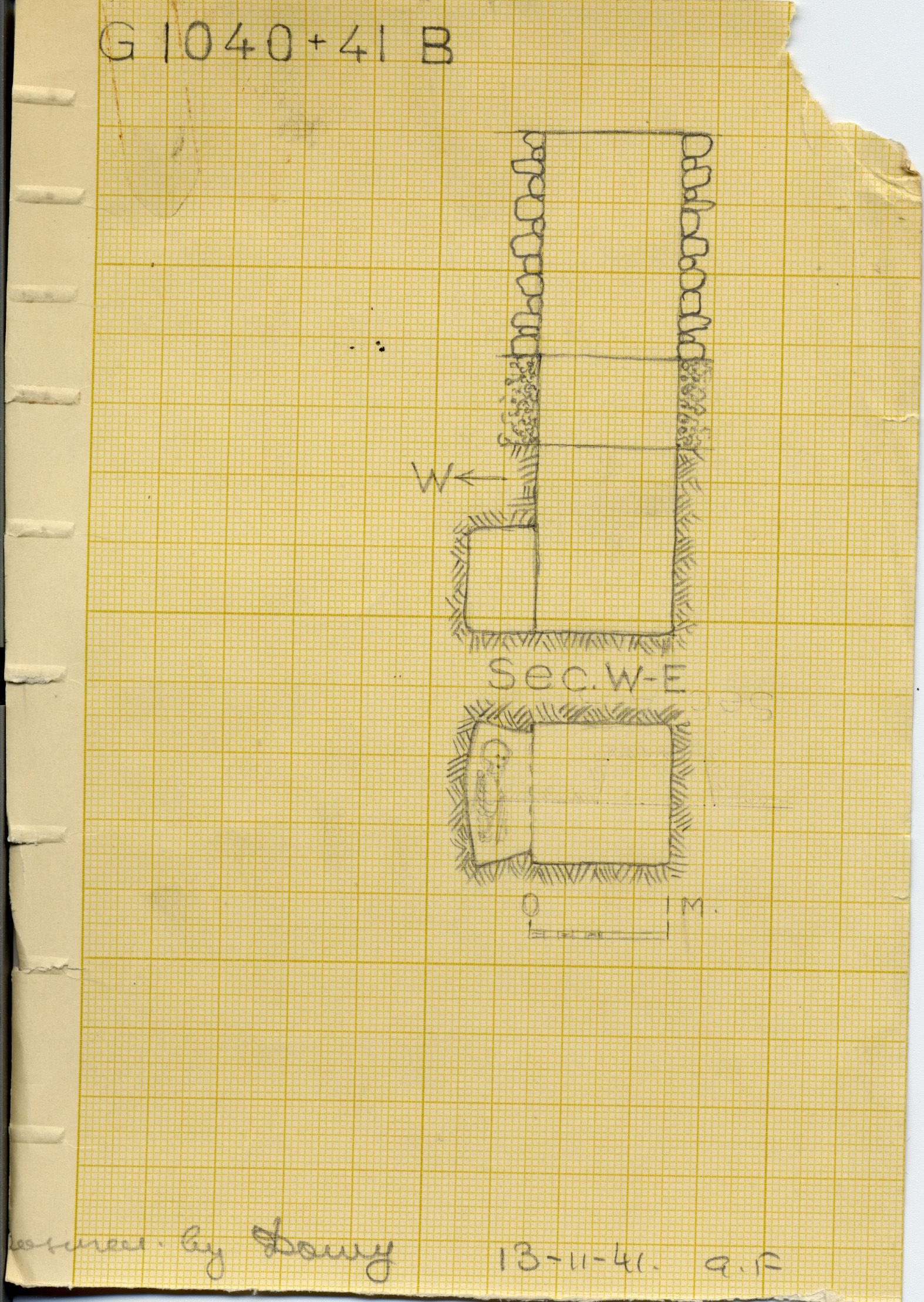 Maps and plans: G 1040+1041, Shaft B