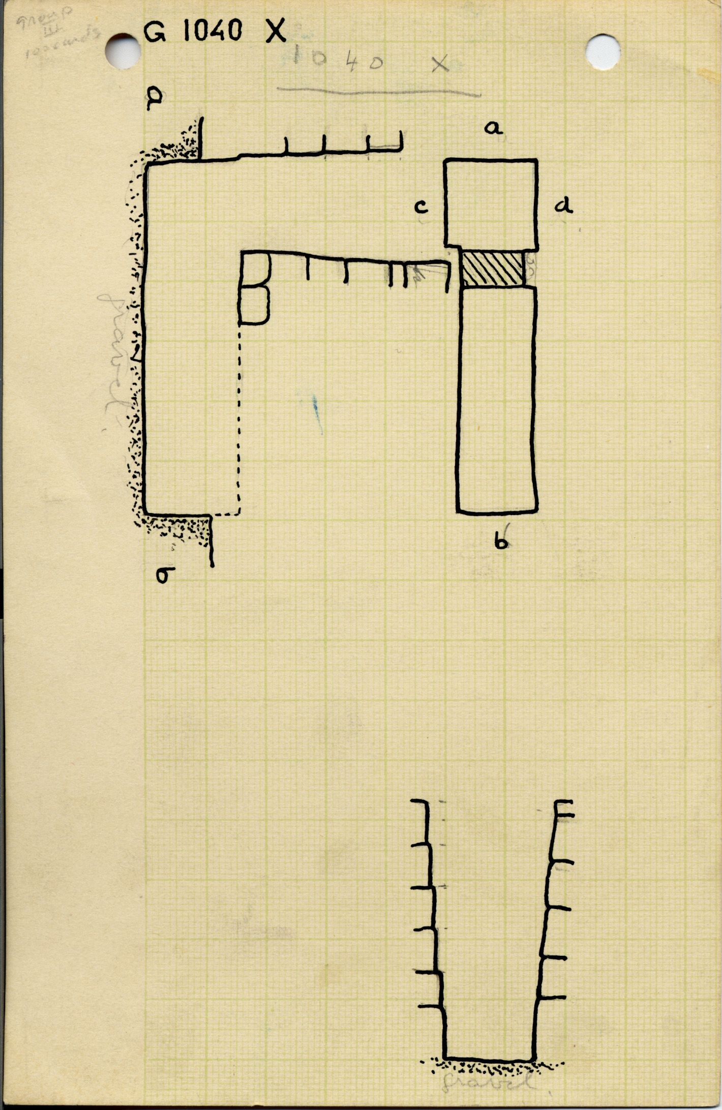 Maps and plans: G 1040+1041, Shaft X