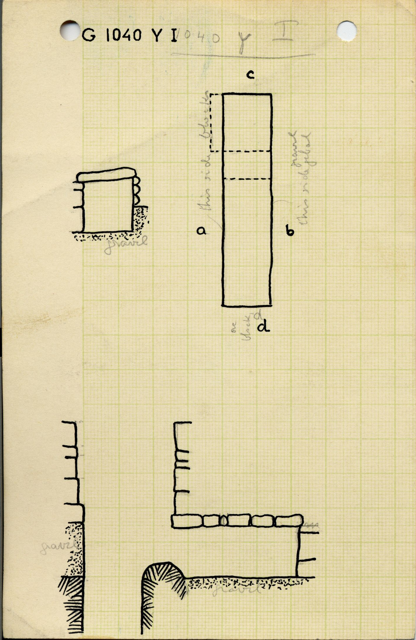 Maps and plans: G 1040+1041, Shaft Y (I)