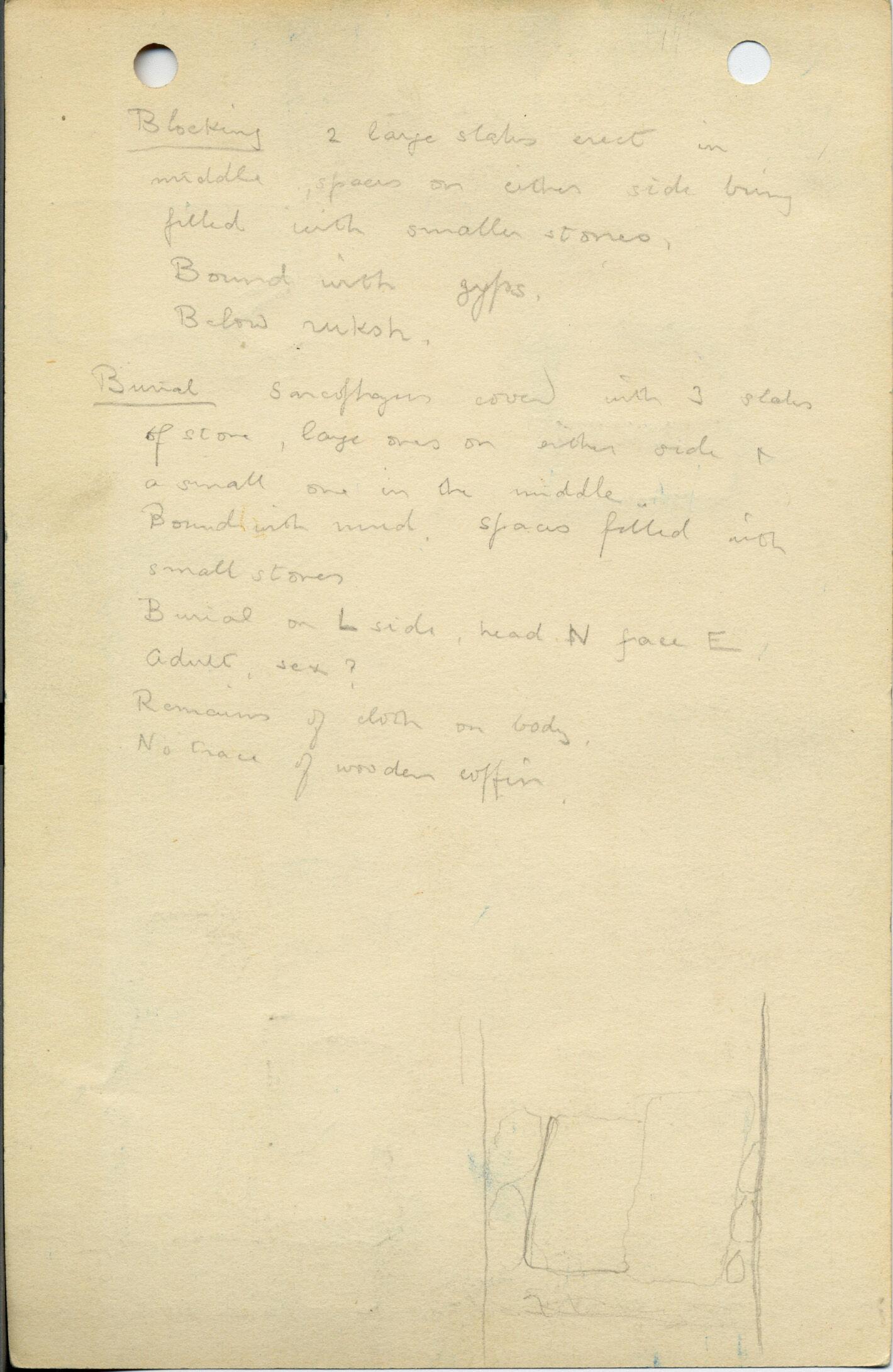 Notes: G 1042, Shaft A a, notes