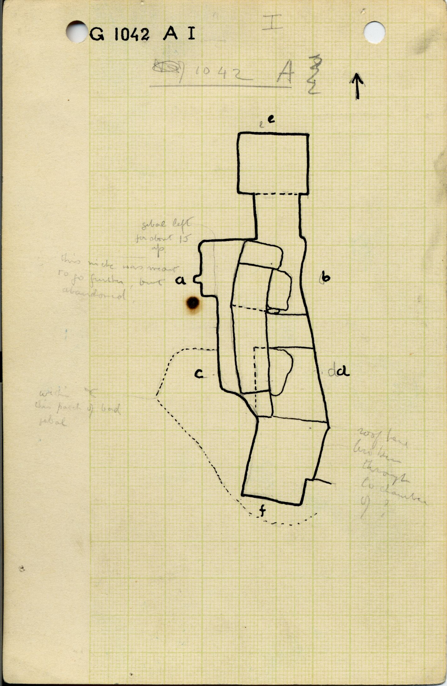 Maps and plans: G 1042, Shaft A