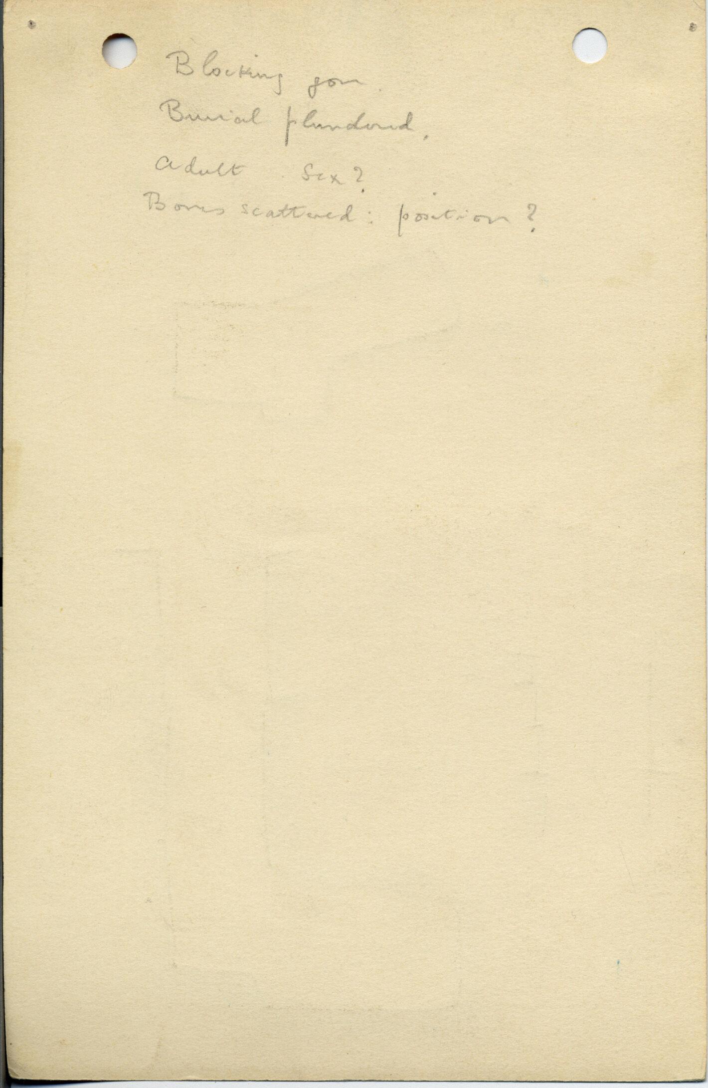 Notes: G 1042, Shaft B, notes