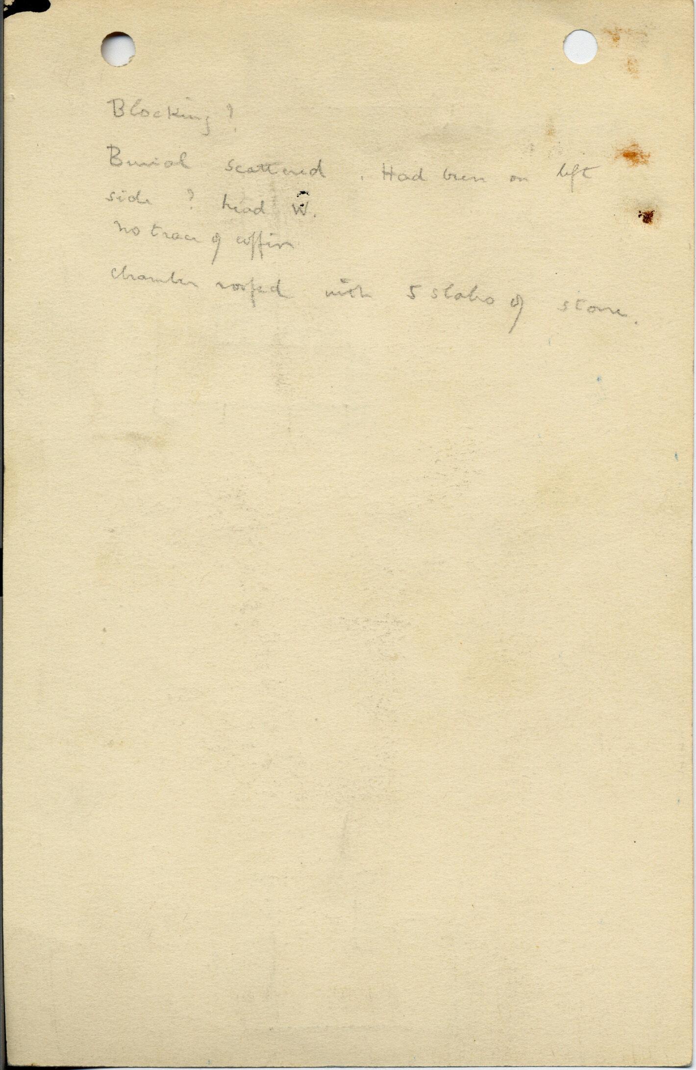 Notes: G 1042, Shaft D, notes