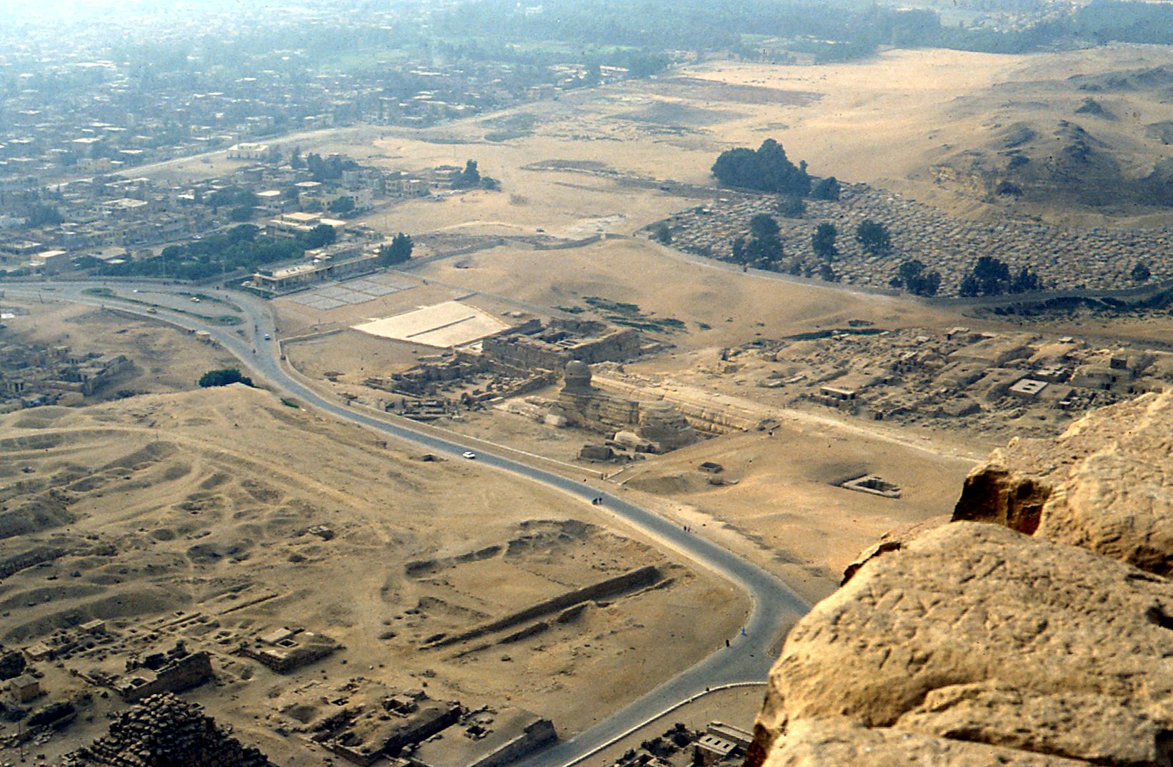 Central Field (Hassan): Site: Giza; View: Sphinx