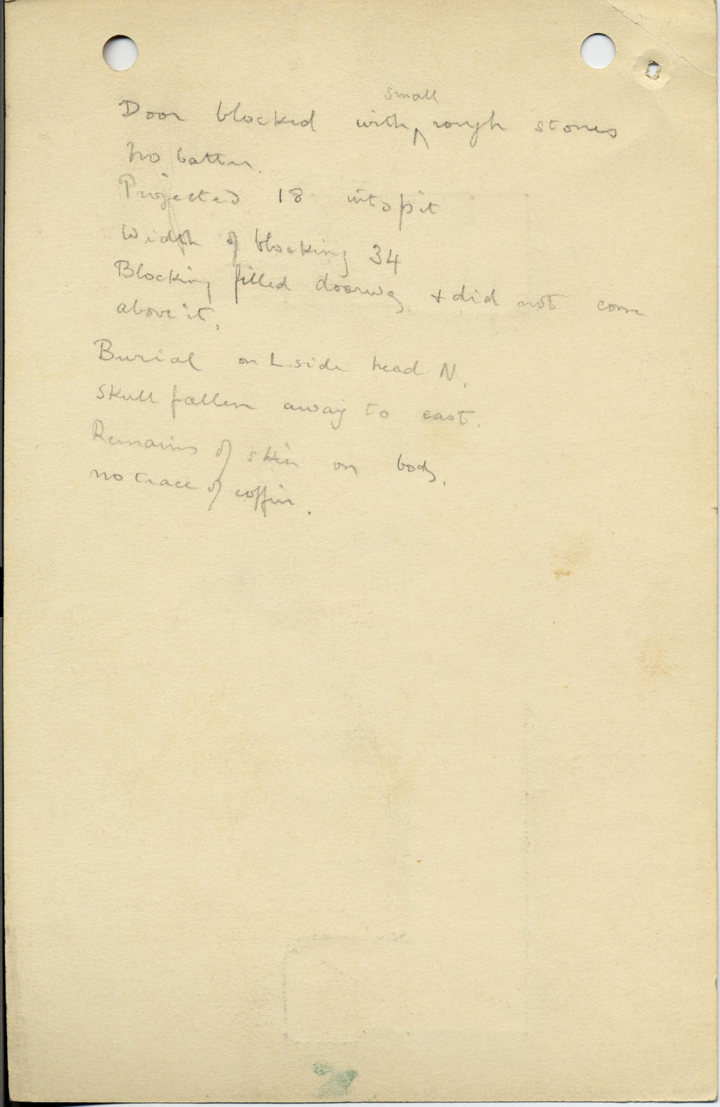 Notes: G 1043, Shaft A (II), notes