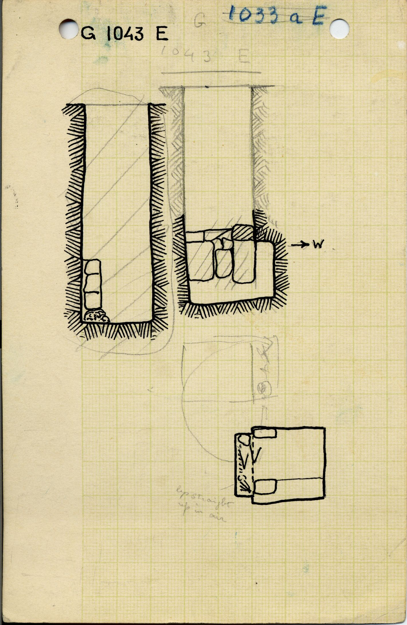 Maps and plans: G 1043, Shaft E