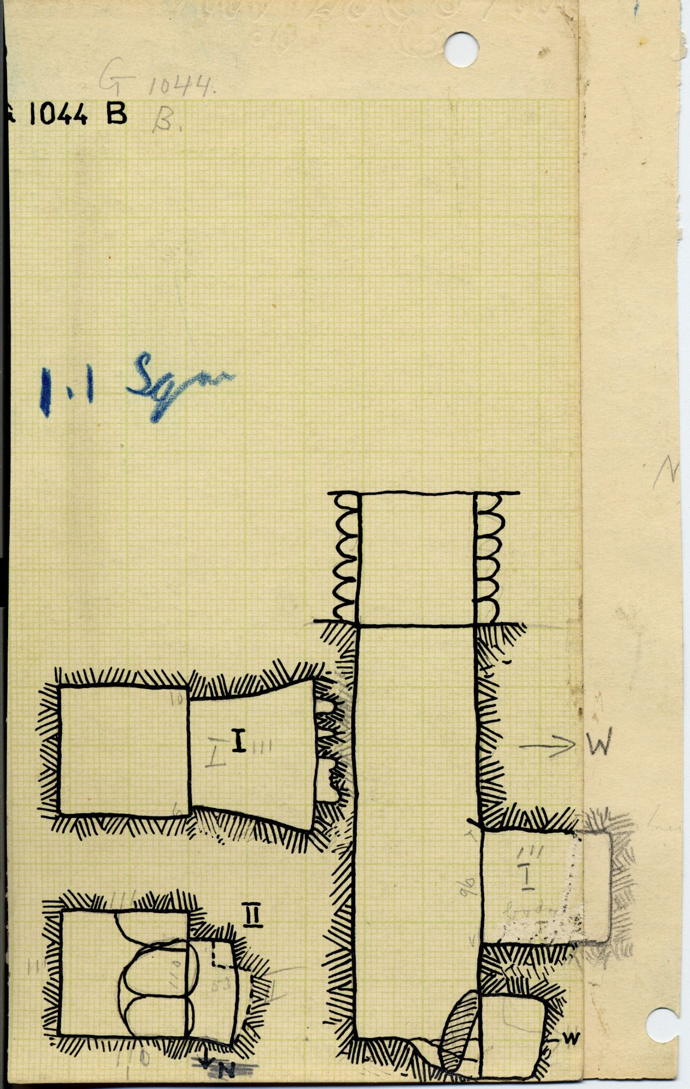Maps and plans: G 1044, Shaft B