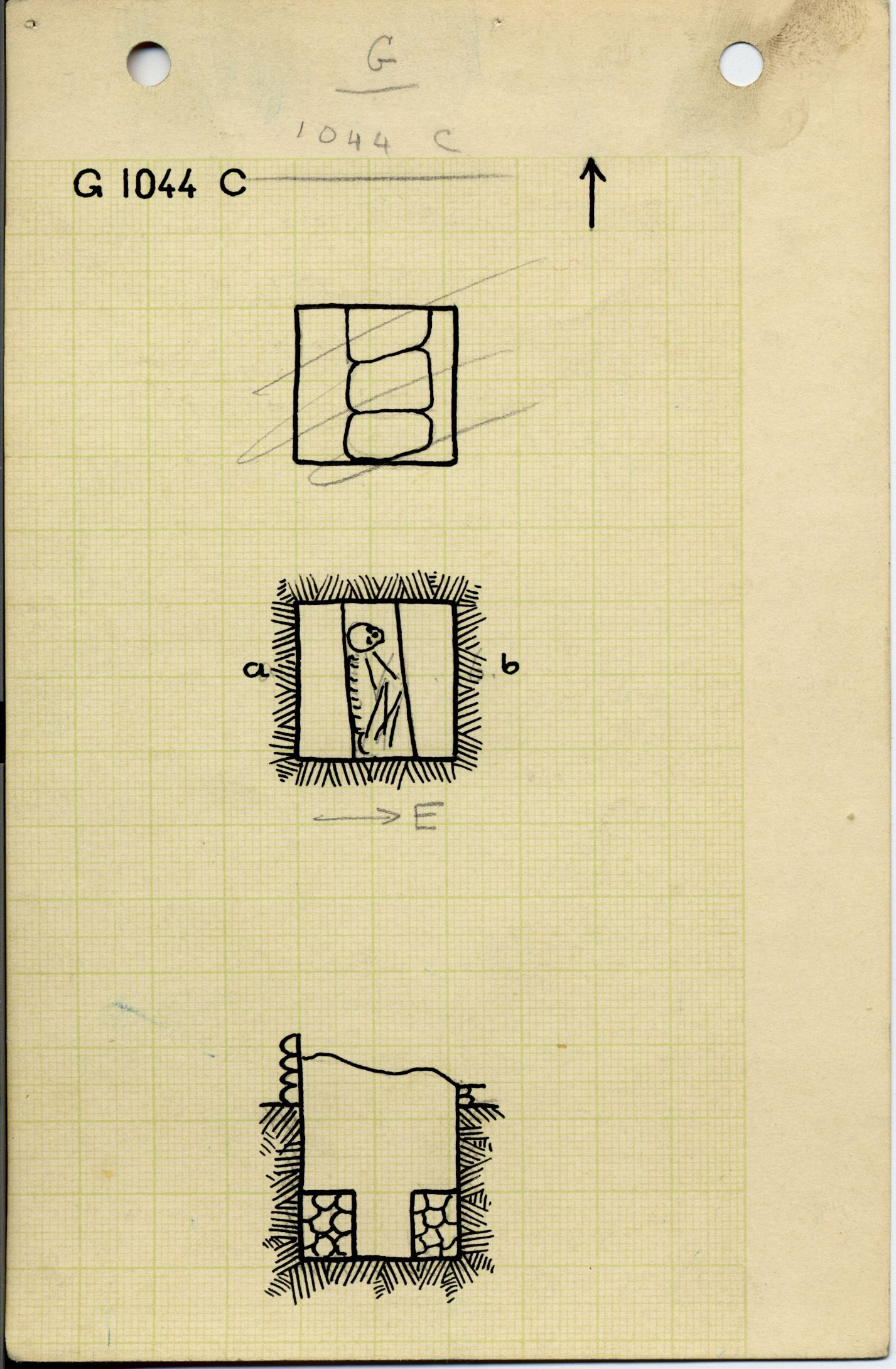 Maps and plans: G 1044, Shaft C