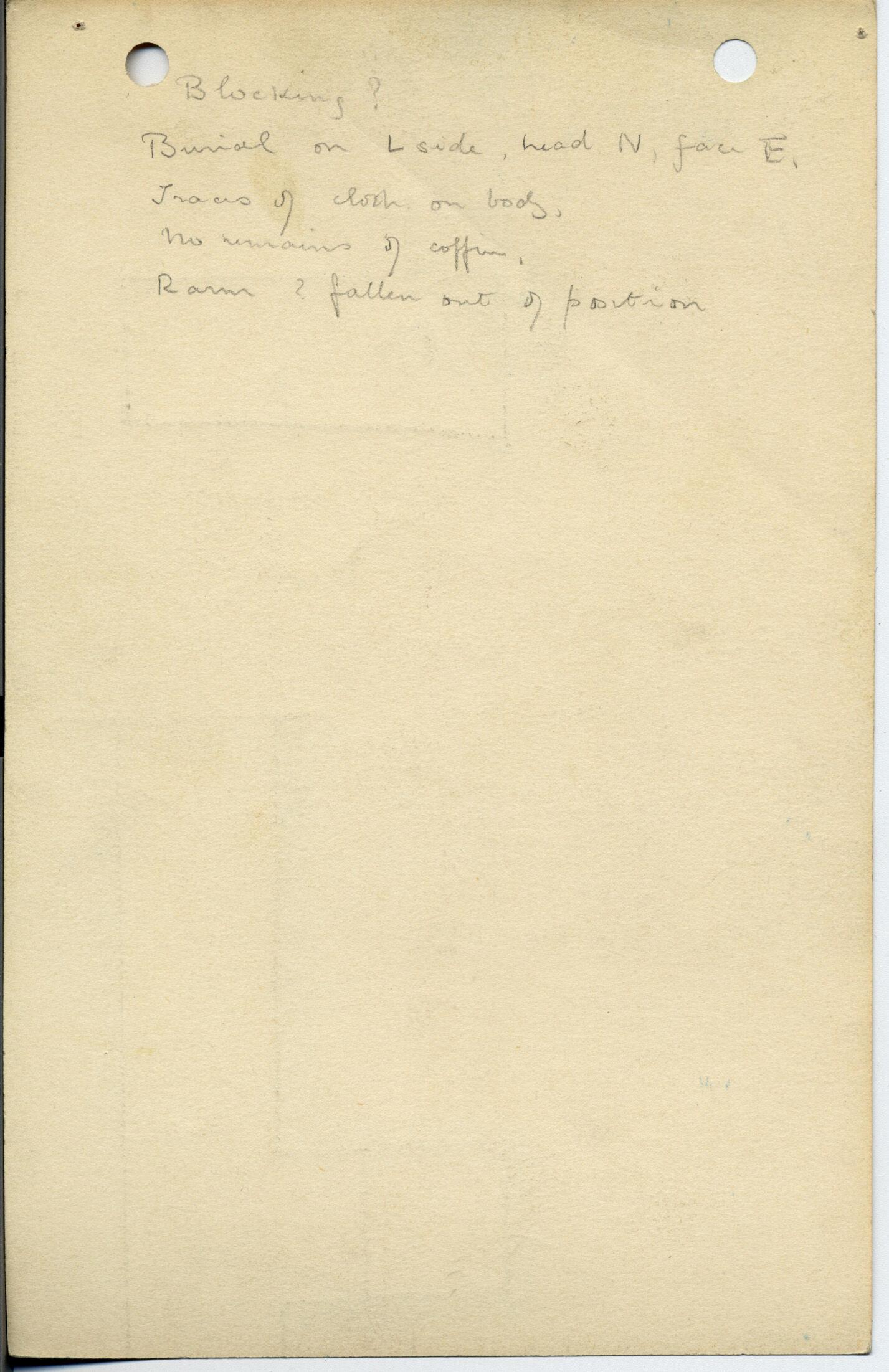 Notes: G 1044, Shaft D (I), notes