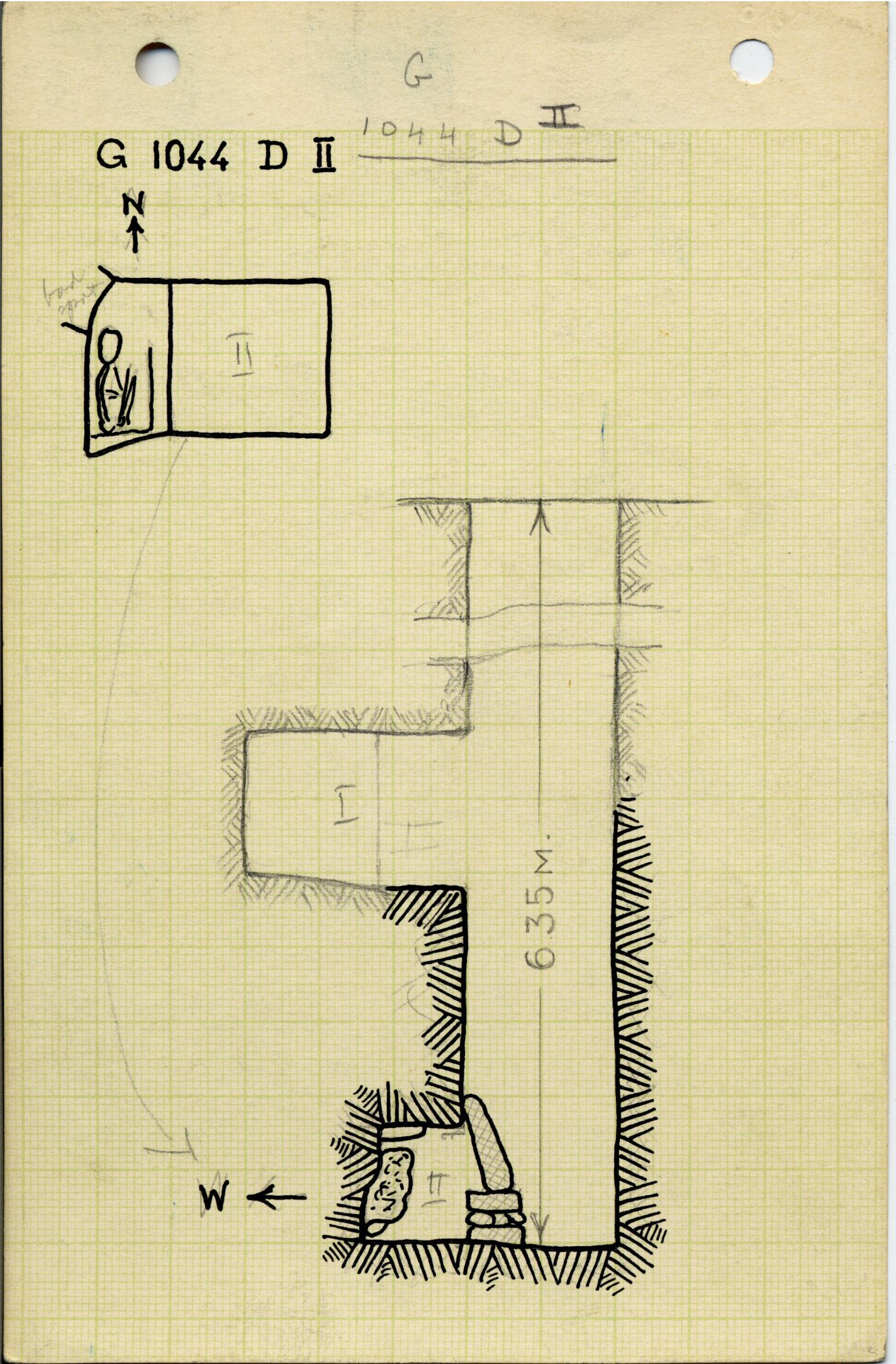 Maps and plans: G 1044, Shaft D (II)