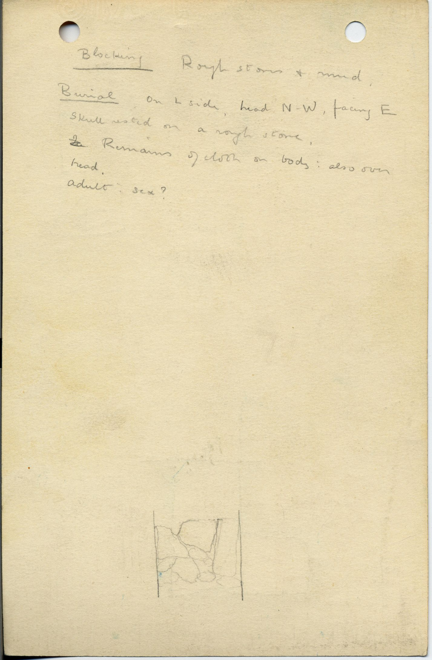Notes: G 1044, Shaft E, notes