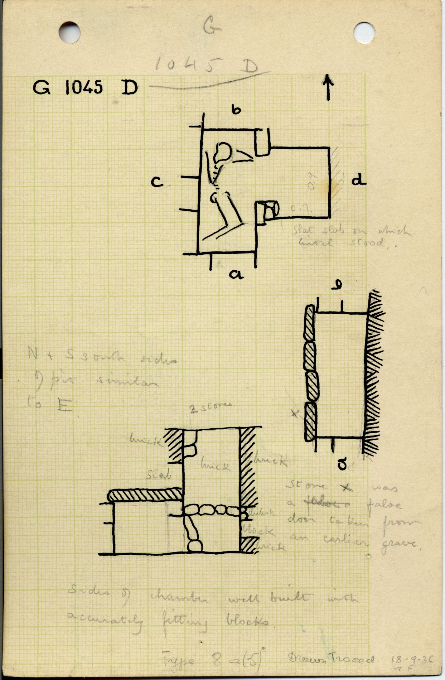 Maps and plans: G 1045+1046: G 1045, Shaft D