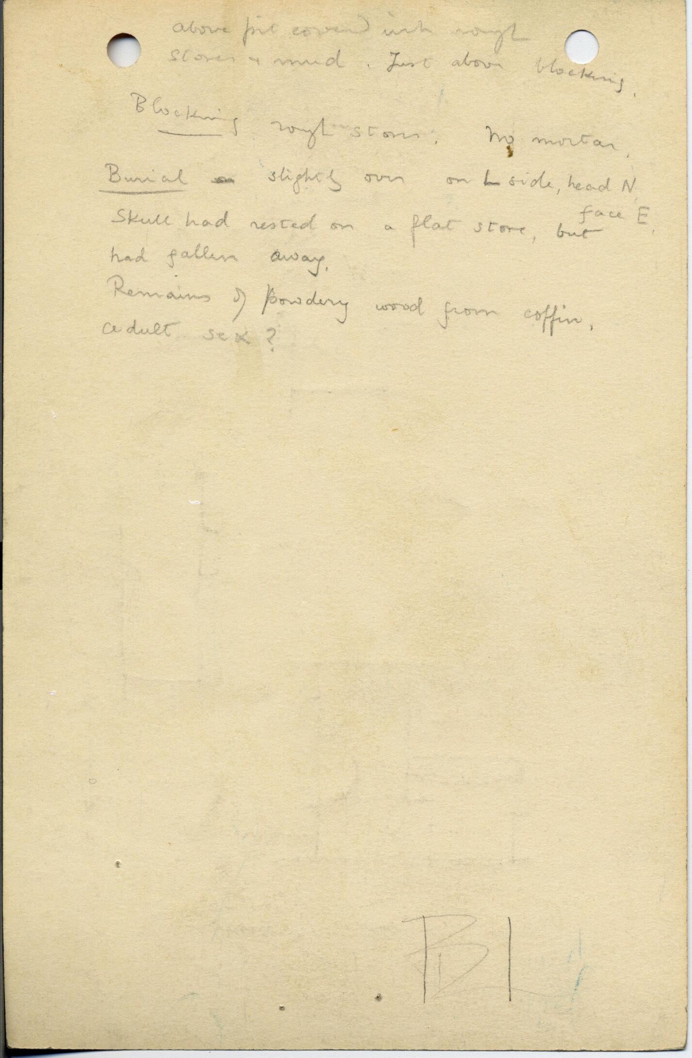 Notes: G 1045+1046: G 1045, Shaft D, notes