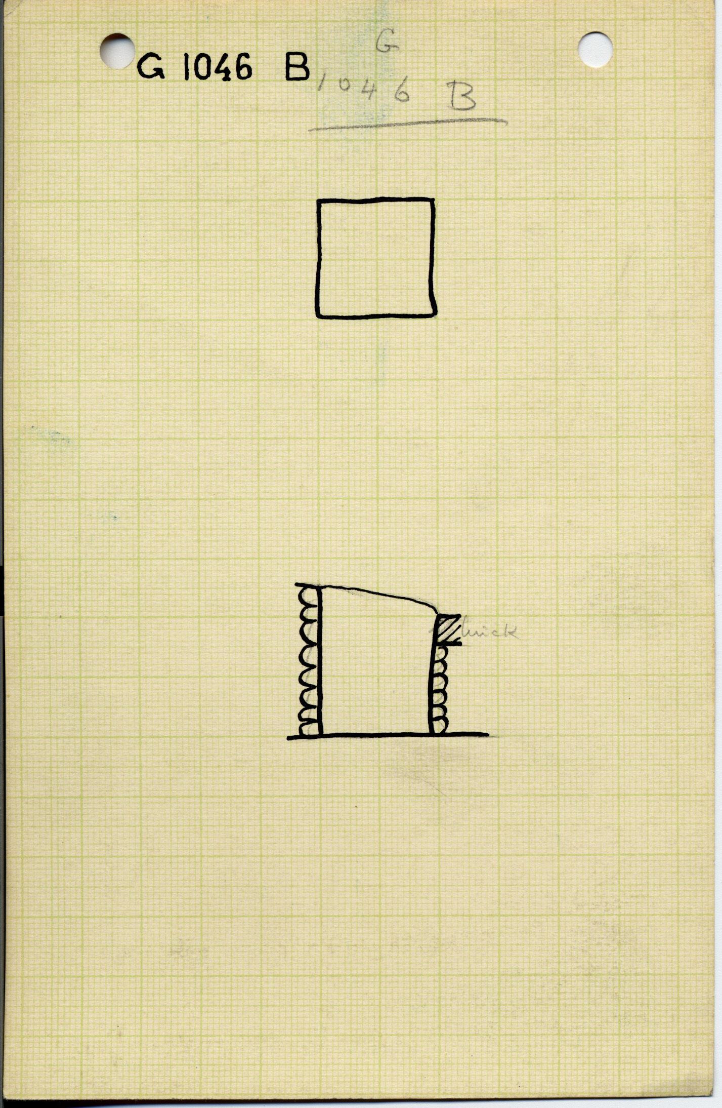 Maps and plans: G 1045+1046: G 1046, Shaft B (= Shaft F)