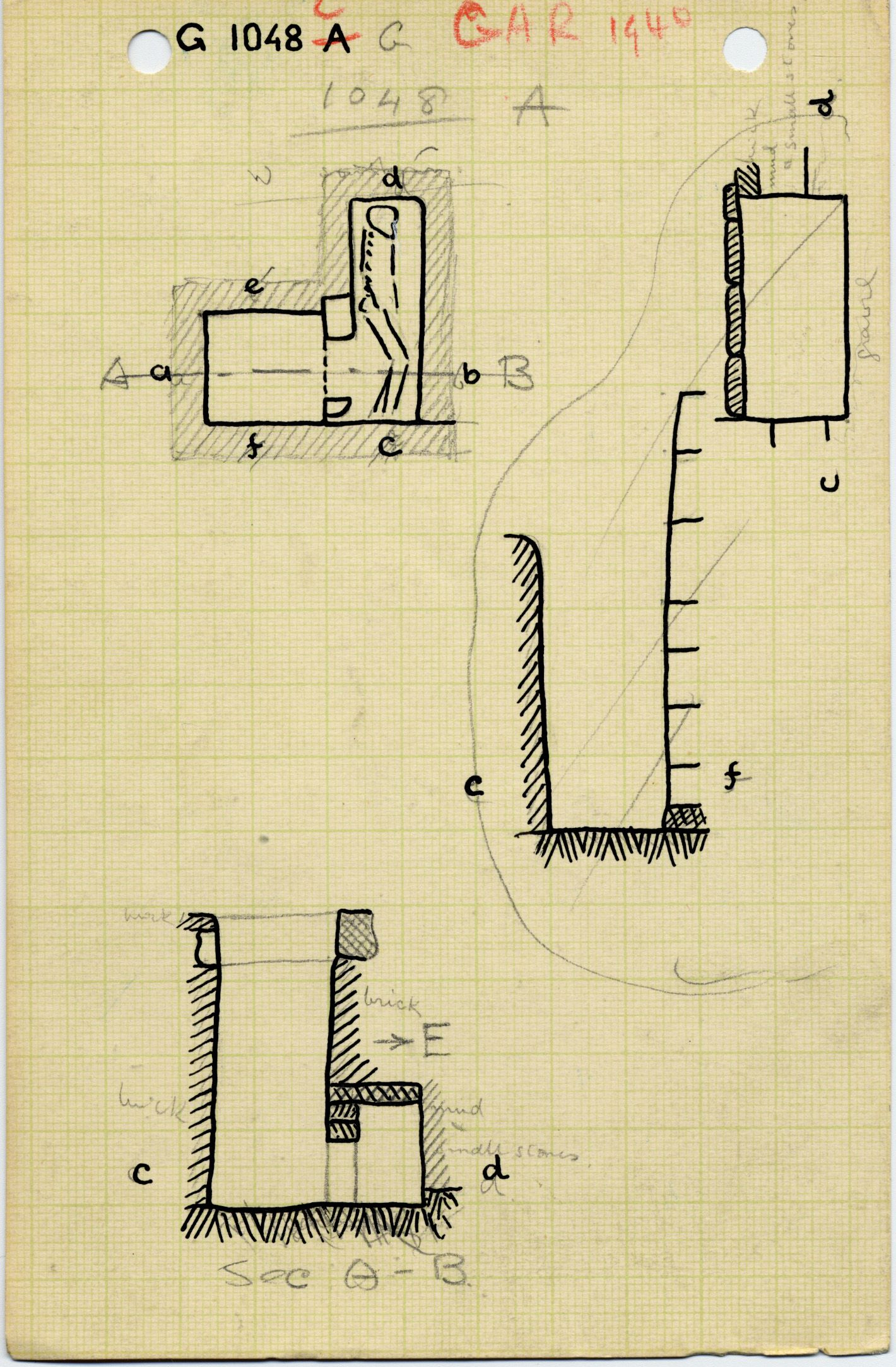 Maps and plans: G 1048, Shaft C