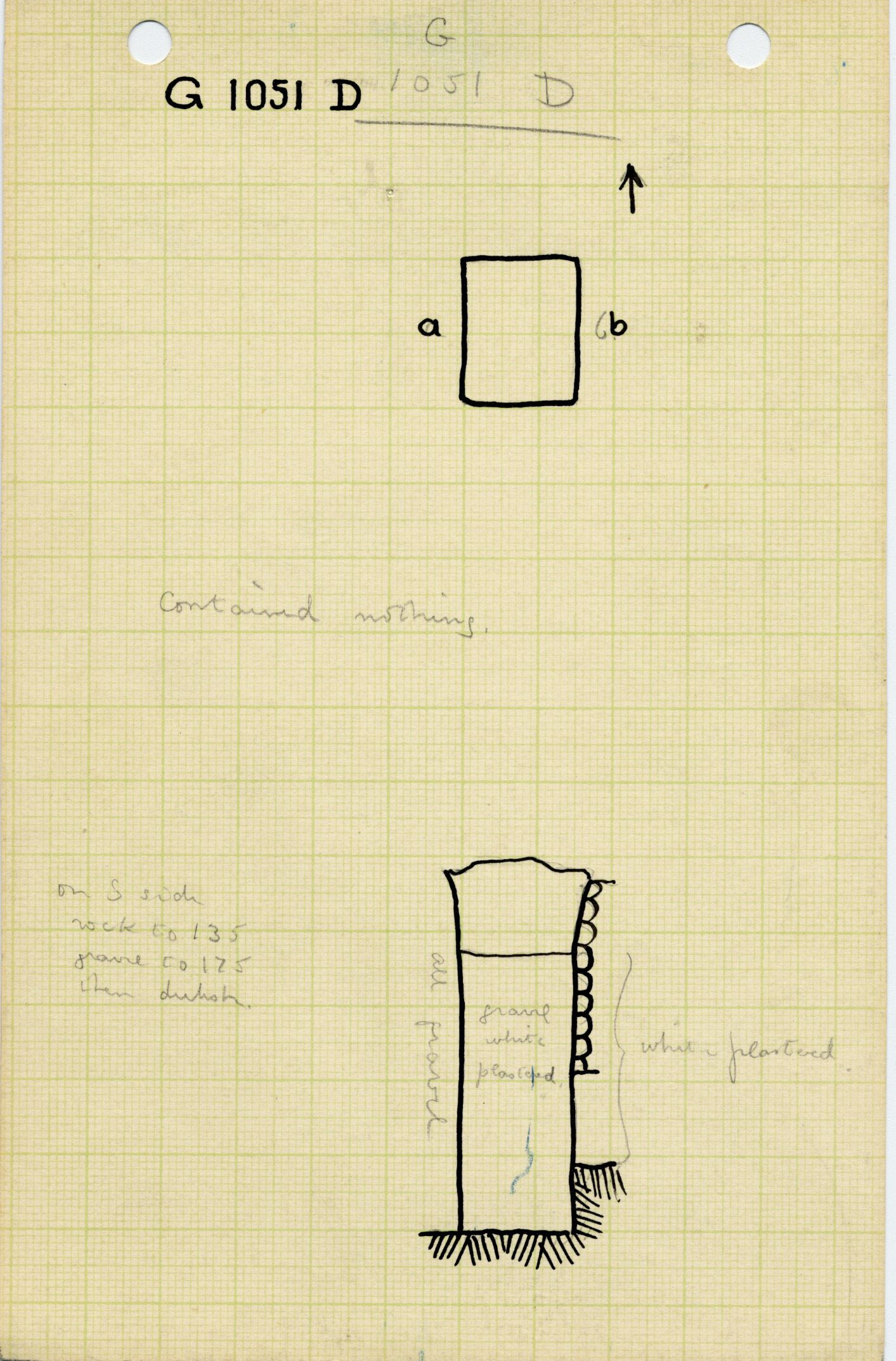 Maps and plans: G 1051, Shaft D
