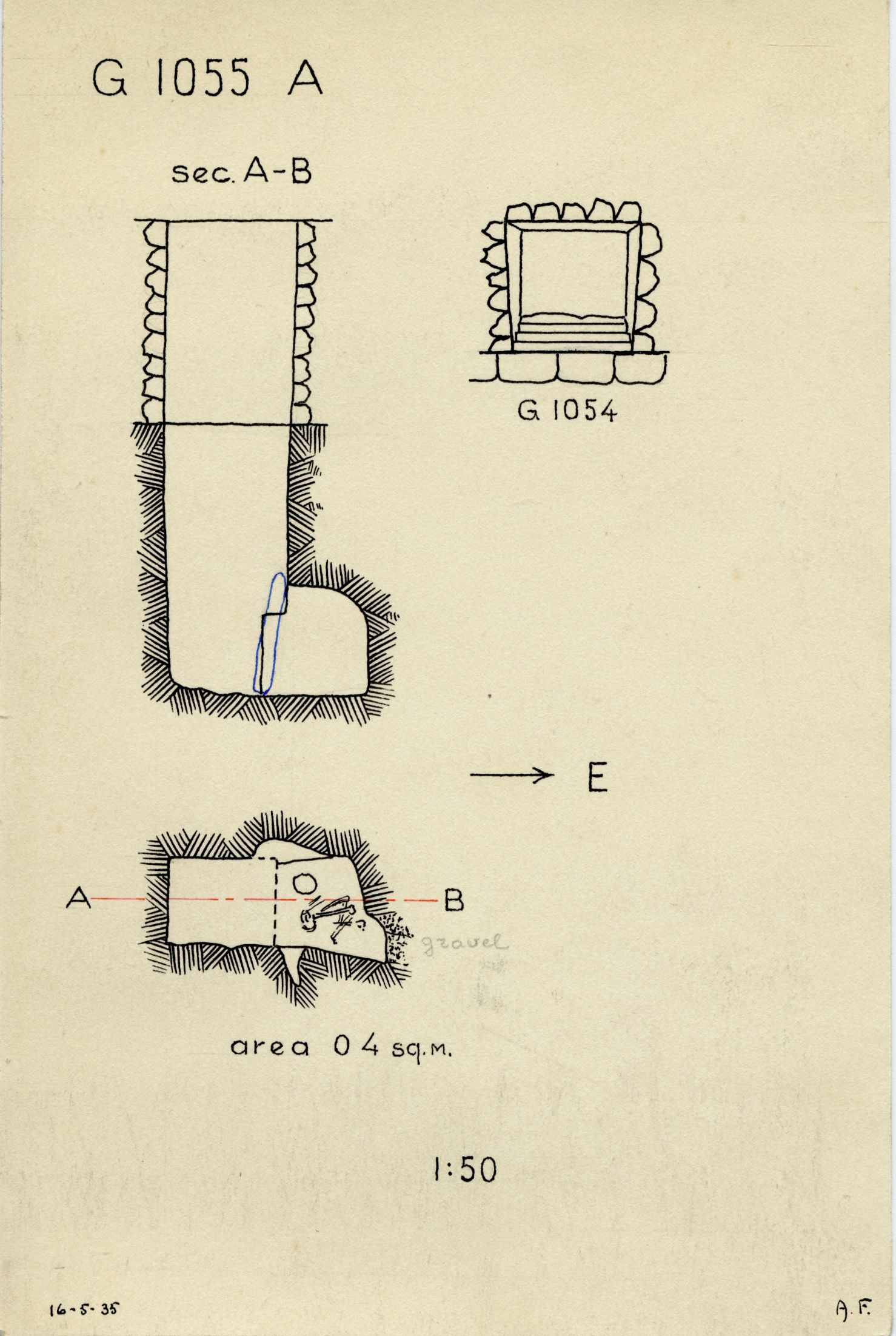 Maps and plans: G 1055, Shaft A