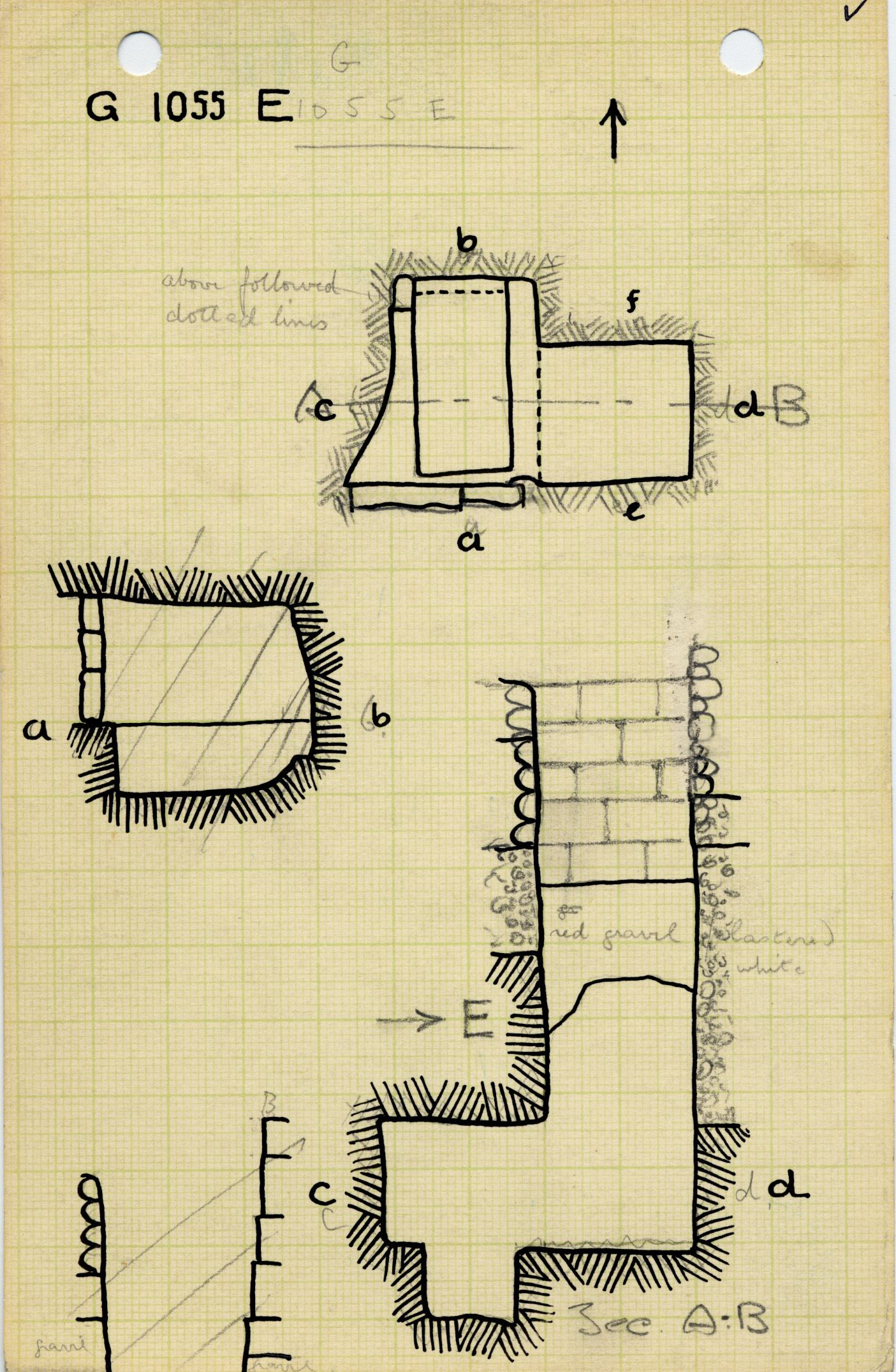 Maps and plans: G 1055, Shaft E