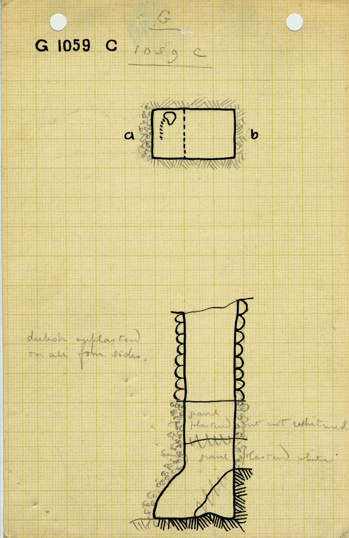Maps and plans: G 1059, Shaft C