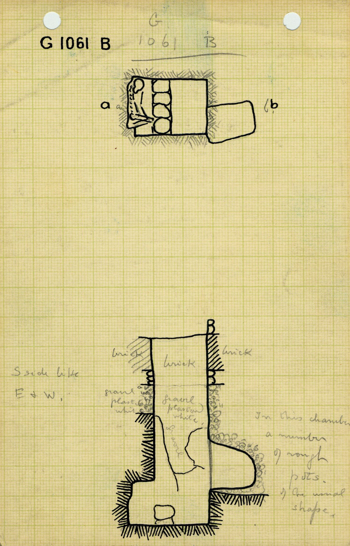Maps and plans: G 1061, Shaft B