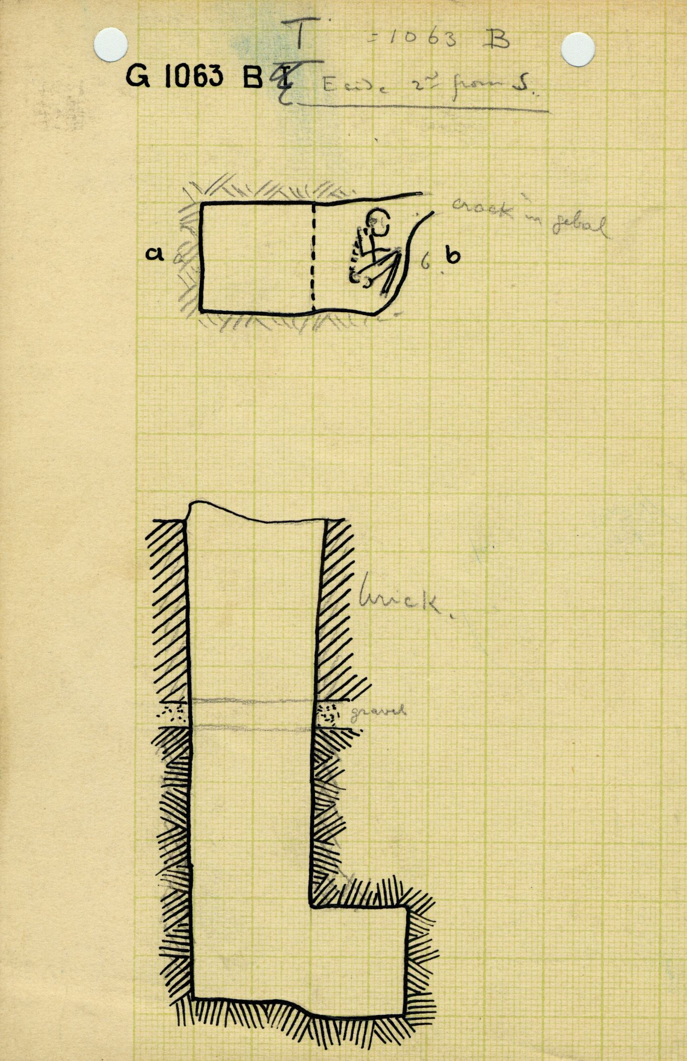 Maps and plans: G 1063, Shaft B