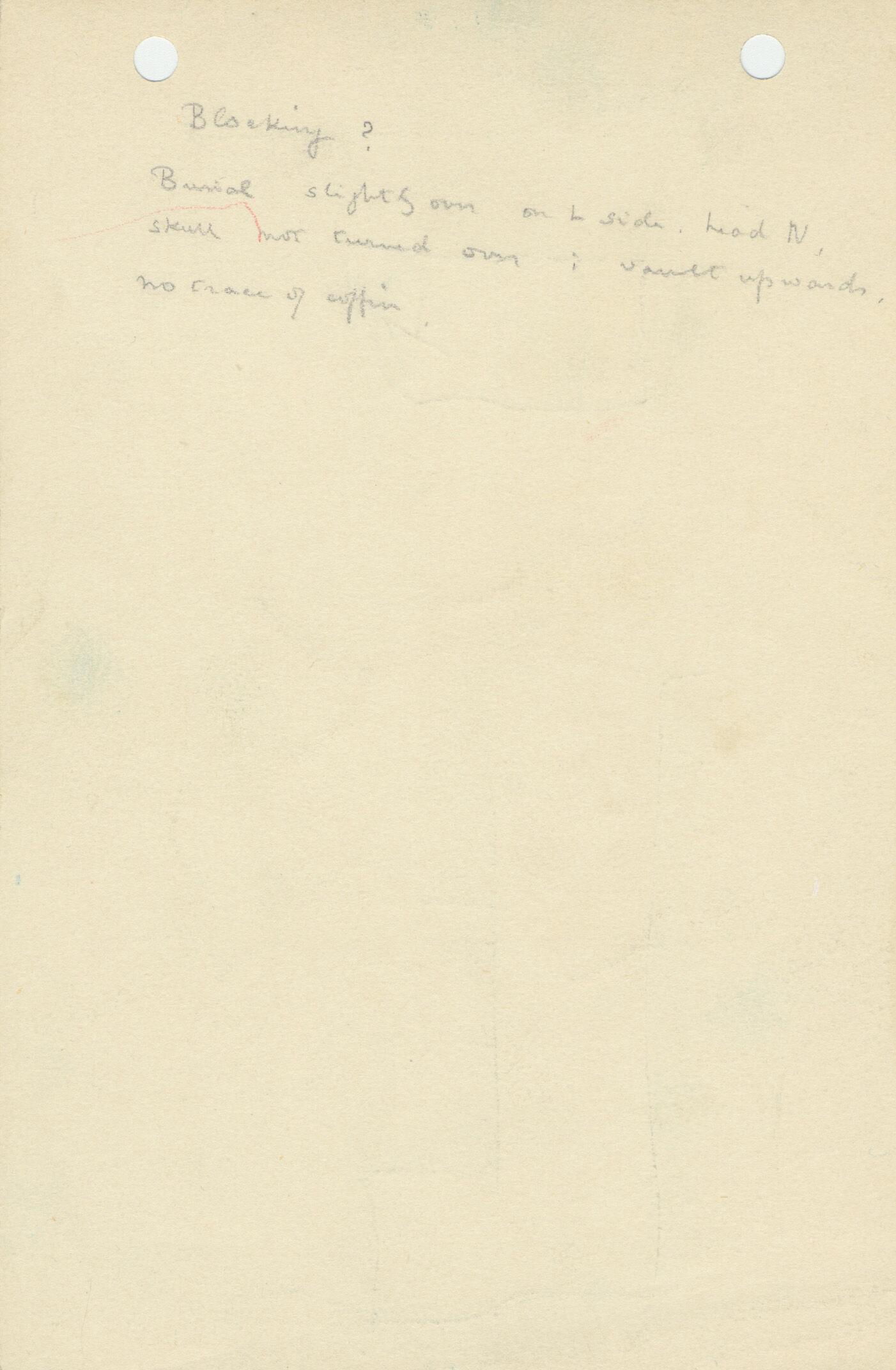 Notes: G 1063, Shaft B, notes