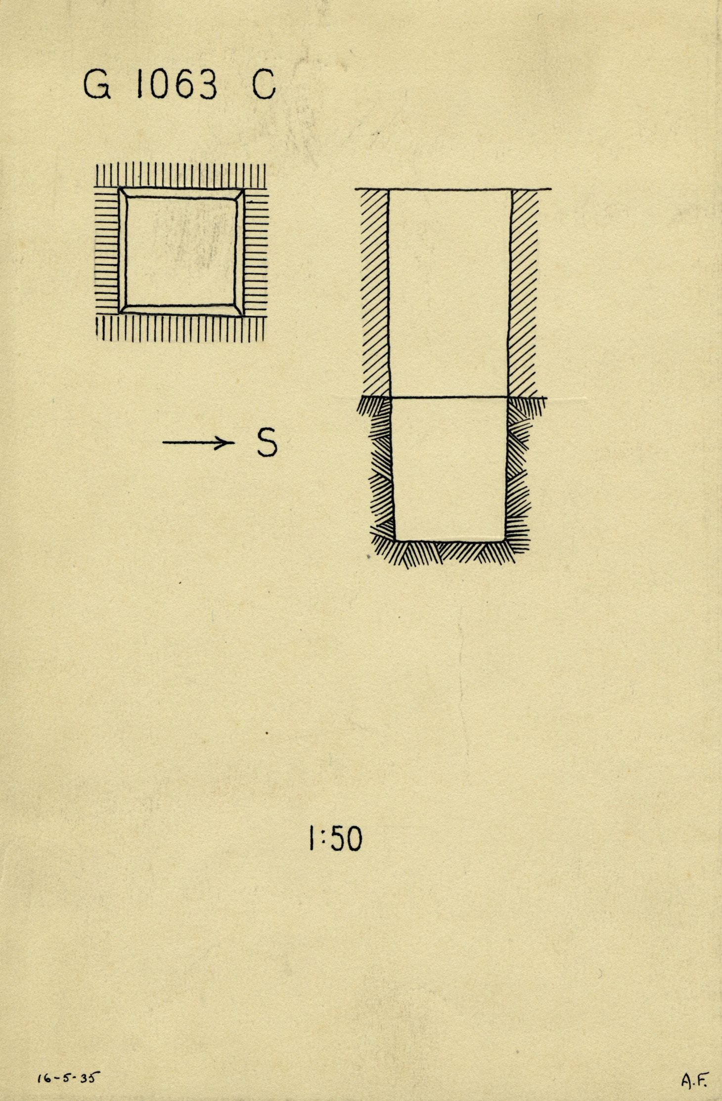 Maps and plans: G 1063, Shaft C