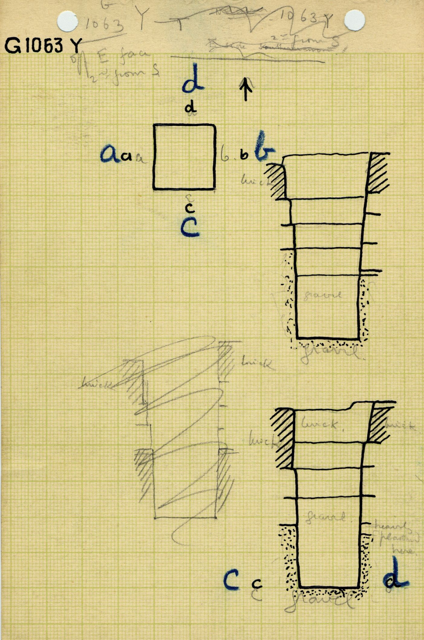 Maps and plans: G 1063, Shaft Y