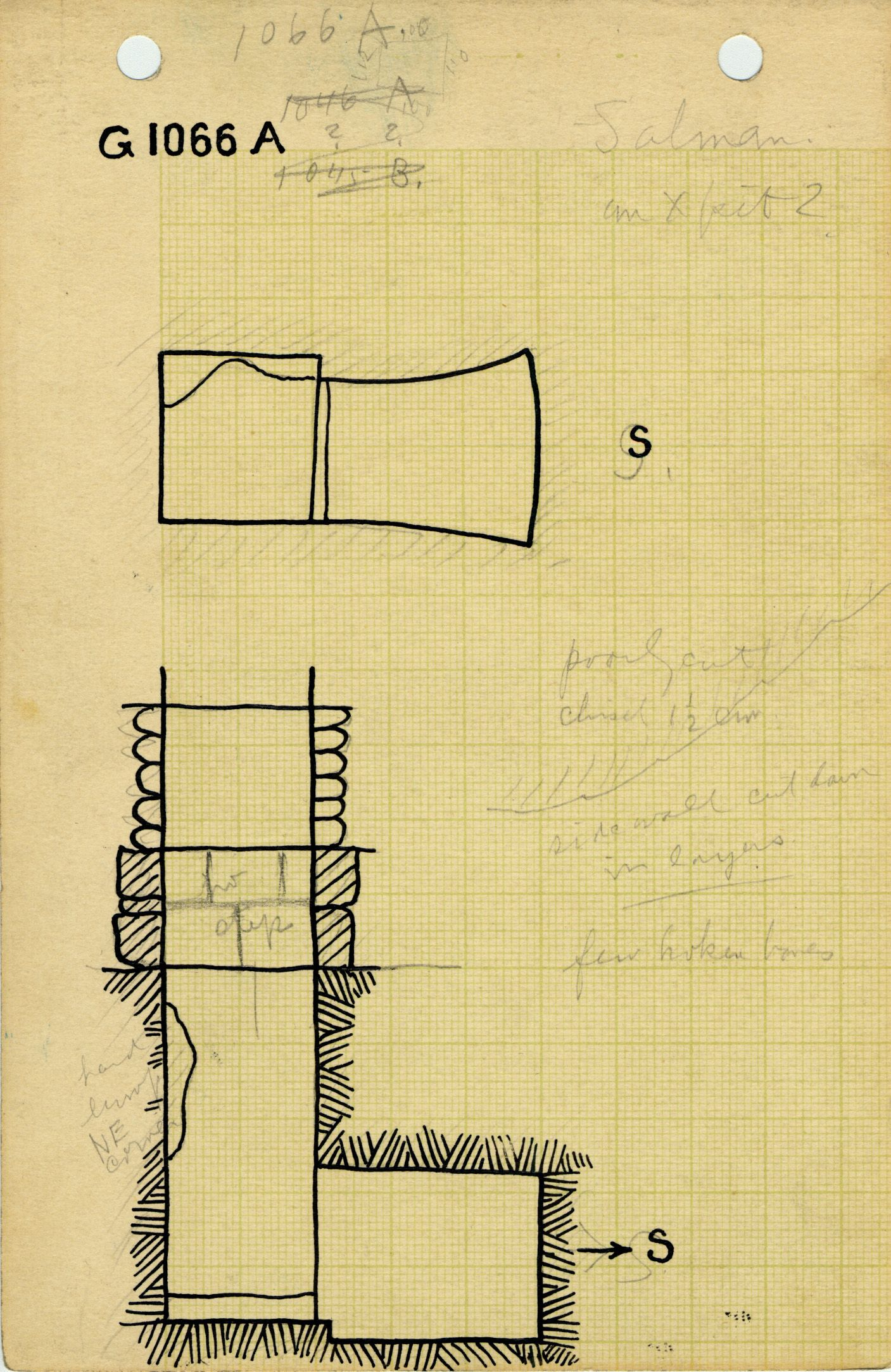 Maps and plans: G 1066, Shaft A