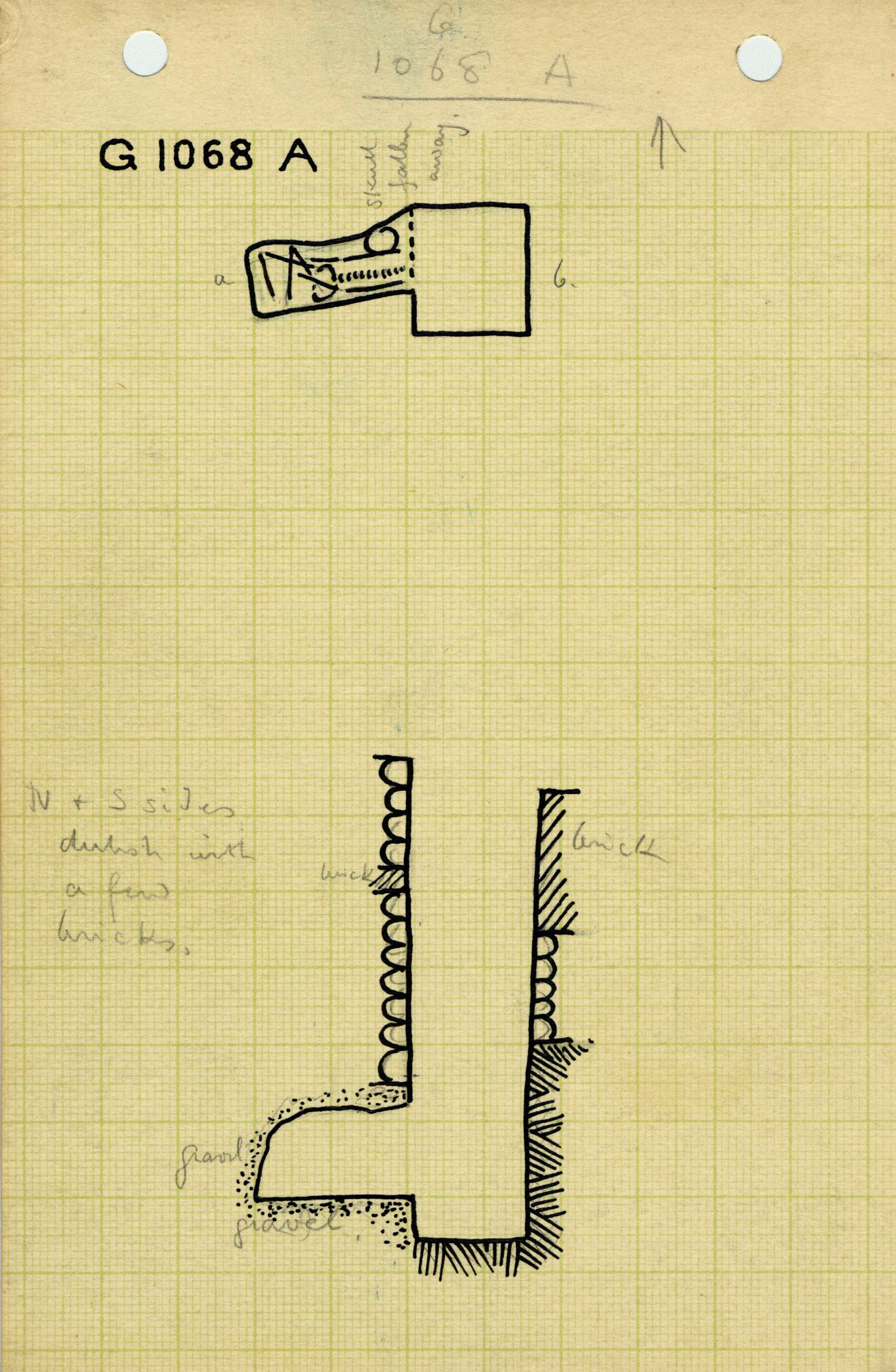 Maps and plans: G 1068, Shaft A