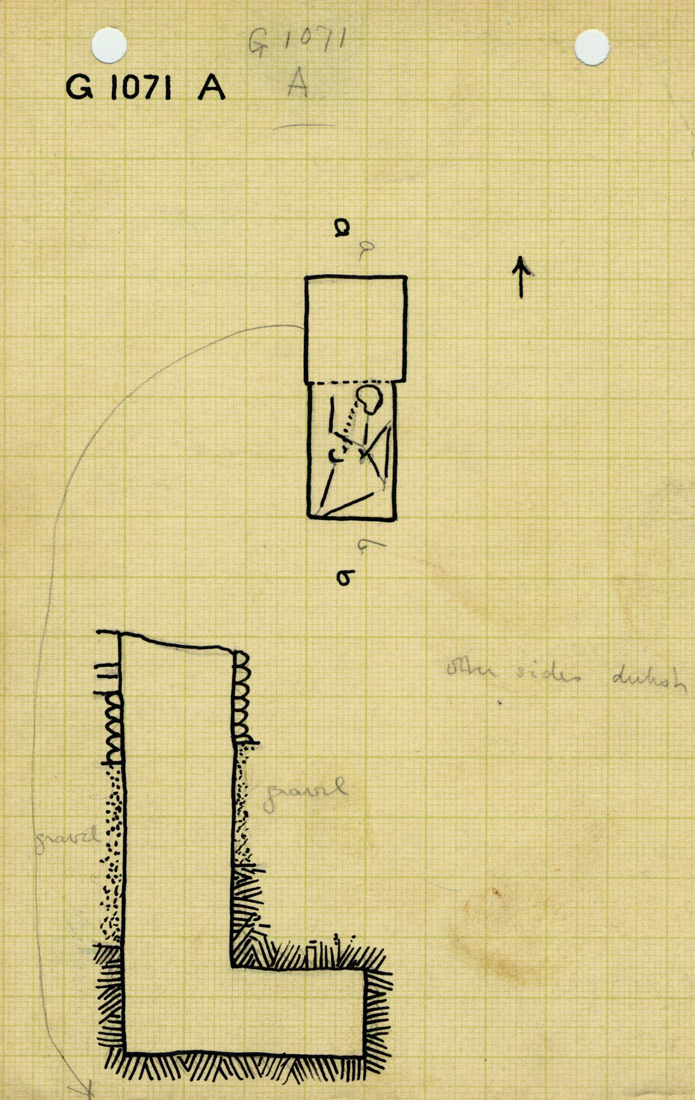 Maps and plans: G 1071, Shaft A