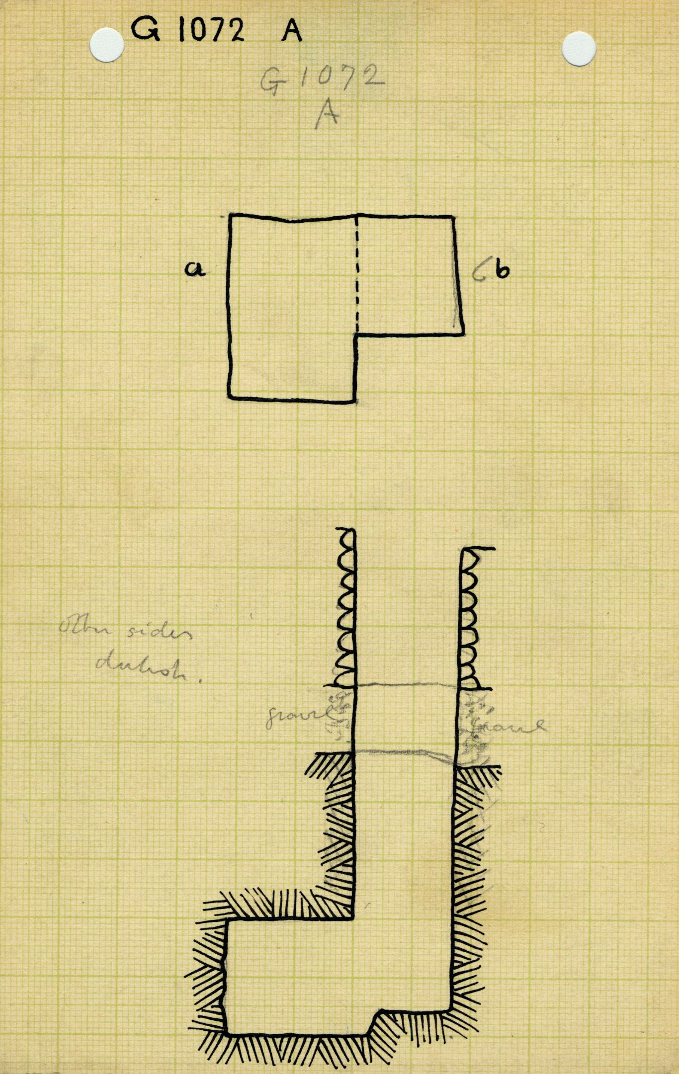 Maps and plans: G 1072, Shaft A