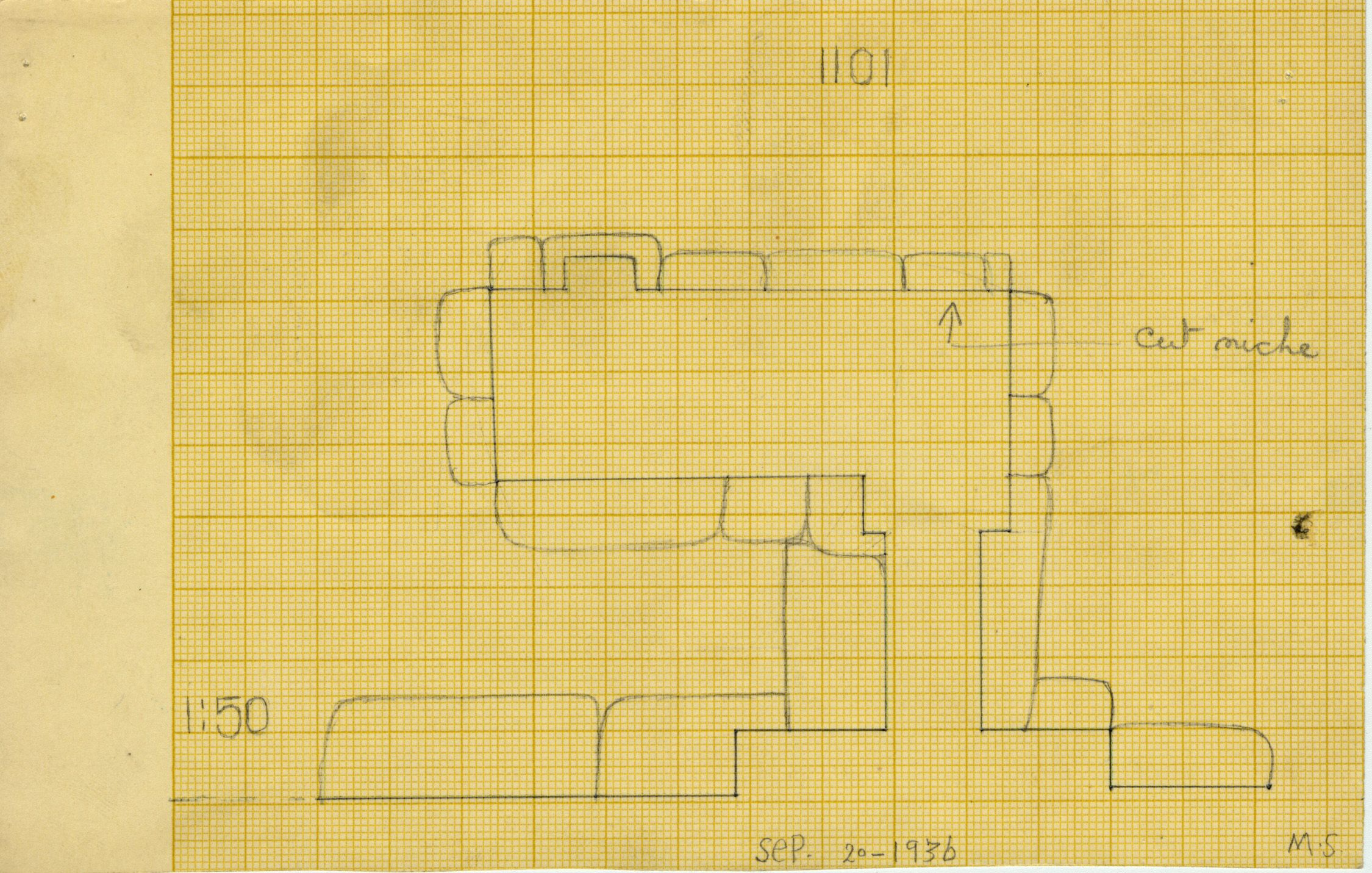 Maps and plans: G 1101, Plan of chapel