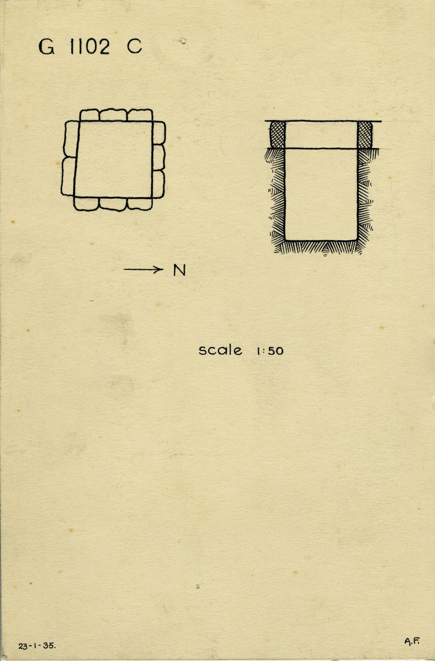 Maps and plans: G 1102, Shaft C