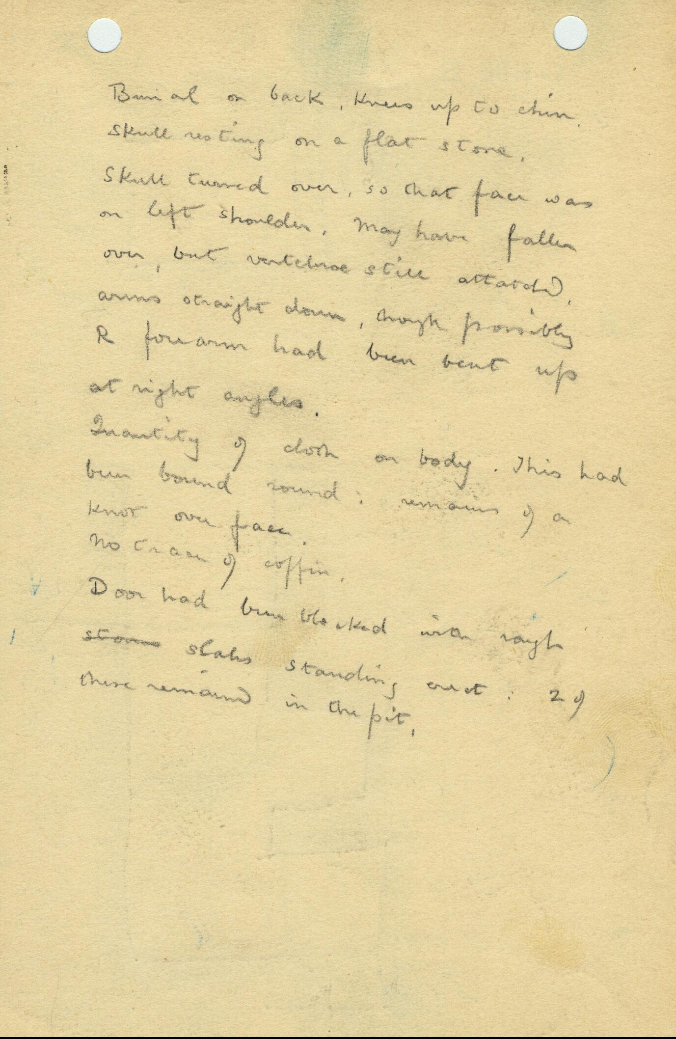 Notes: G 1108, Shaft B, notes