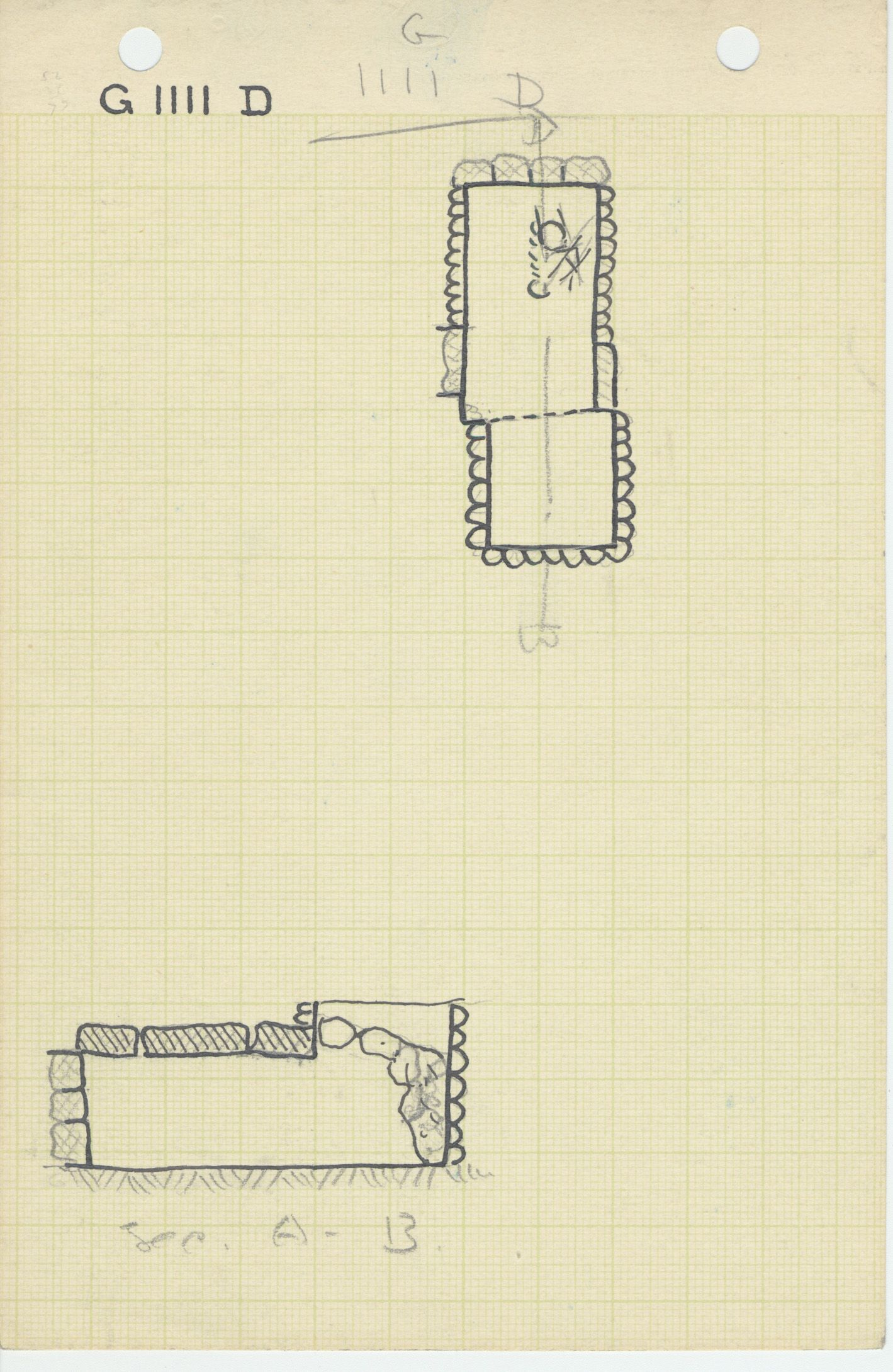 Maps and plans: G 1111, Shaft D
