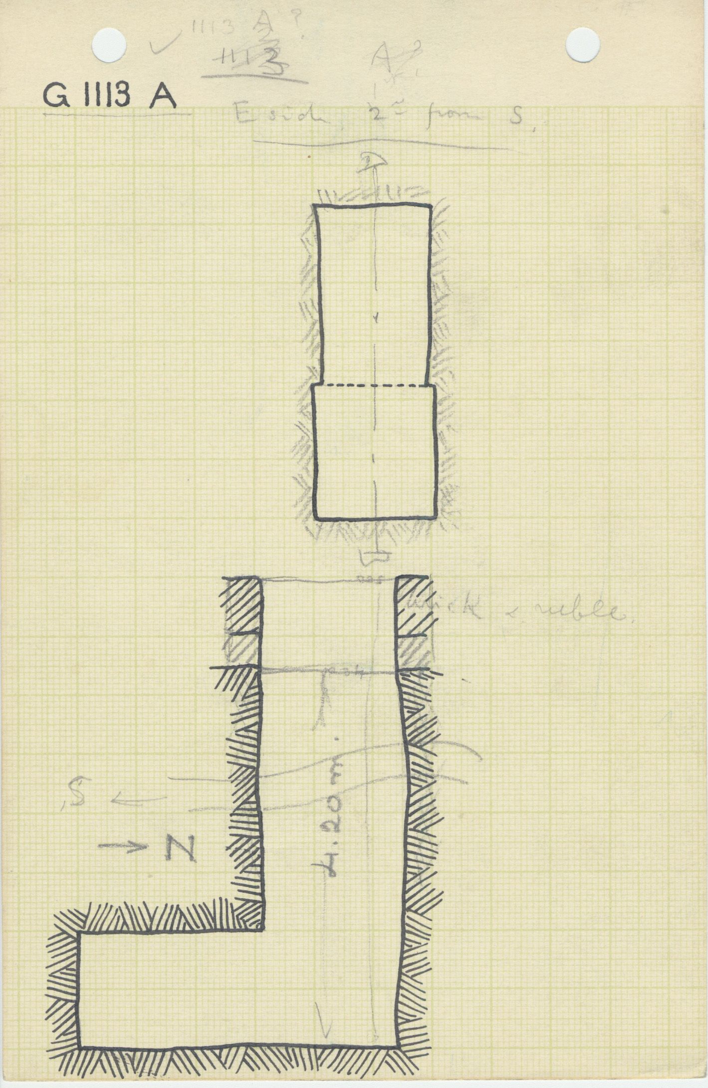 Maps and plans: G 1112+1113: G 1113, Shaft A