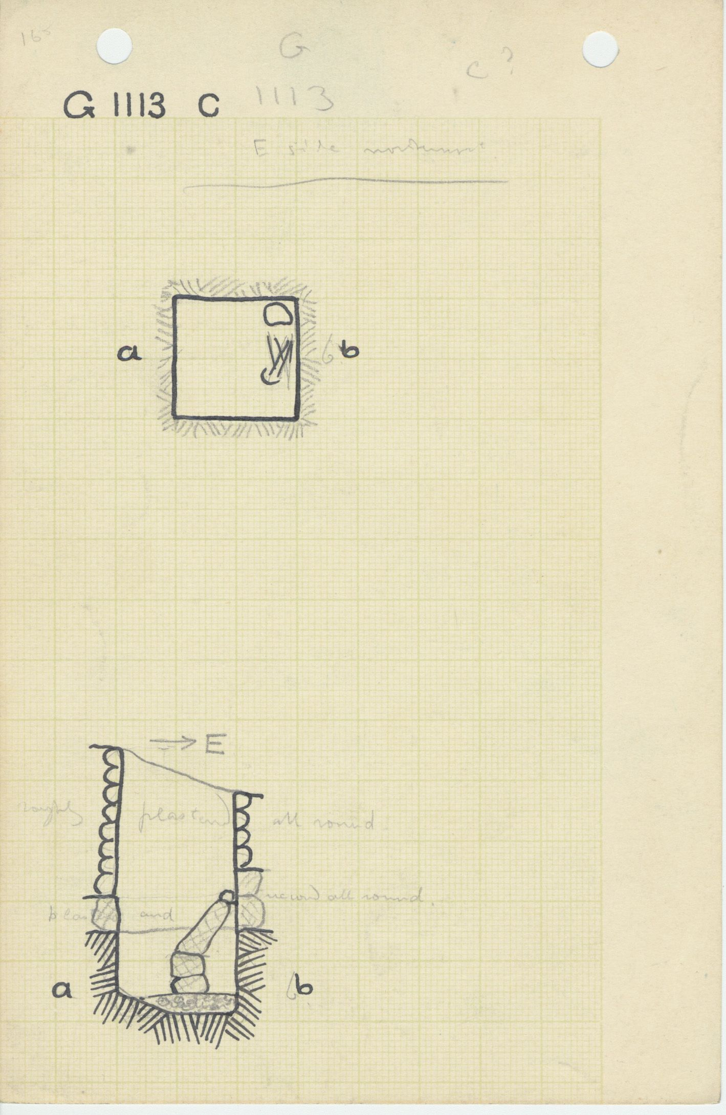Maps and plans: G 1112+1113: G 1113, Shaft C