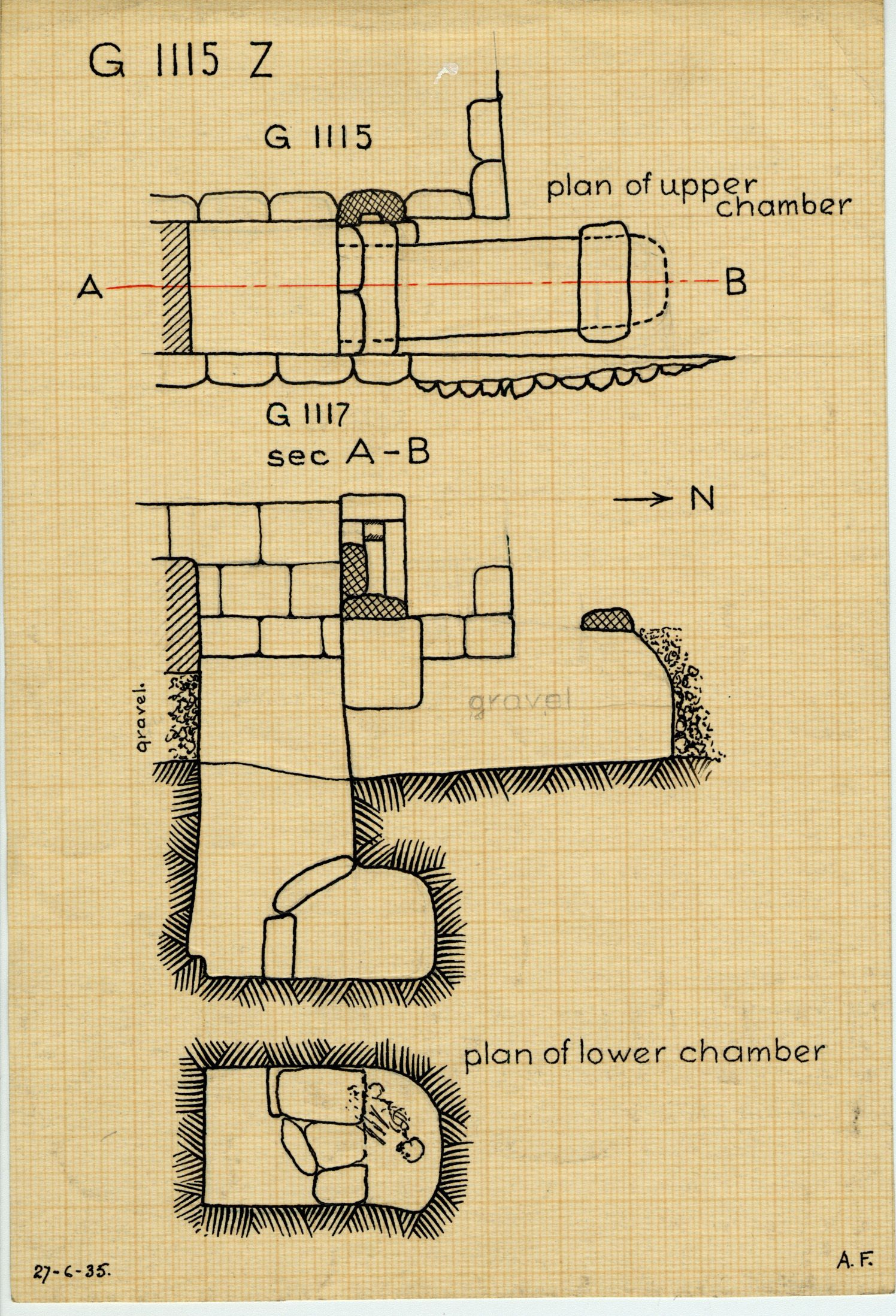 Maps and plans: G 1115, Shaft Z