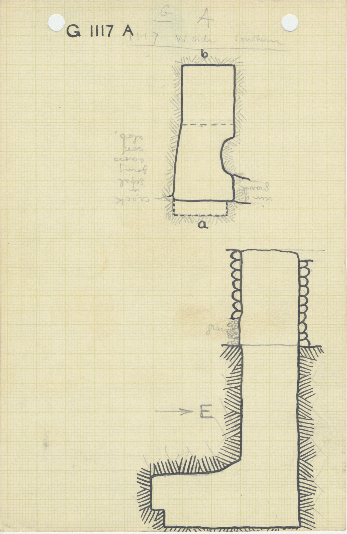 Maps and plans: G 1117, Shaft A
