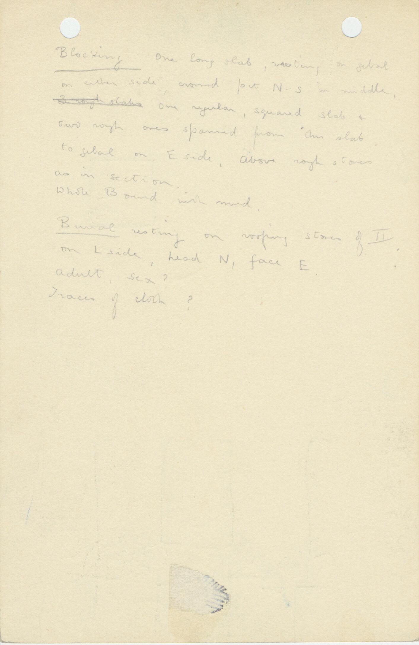 Notes: G 1117, Shaft C (I), notes