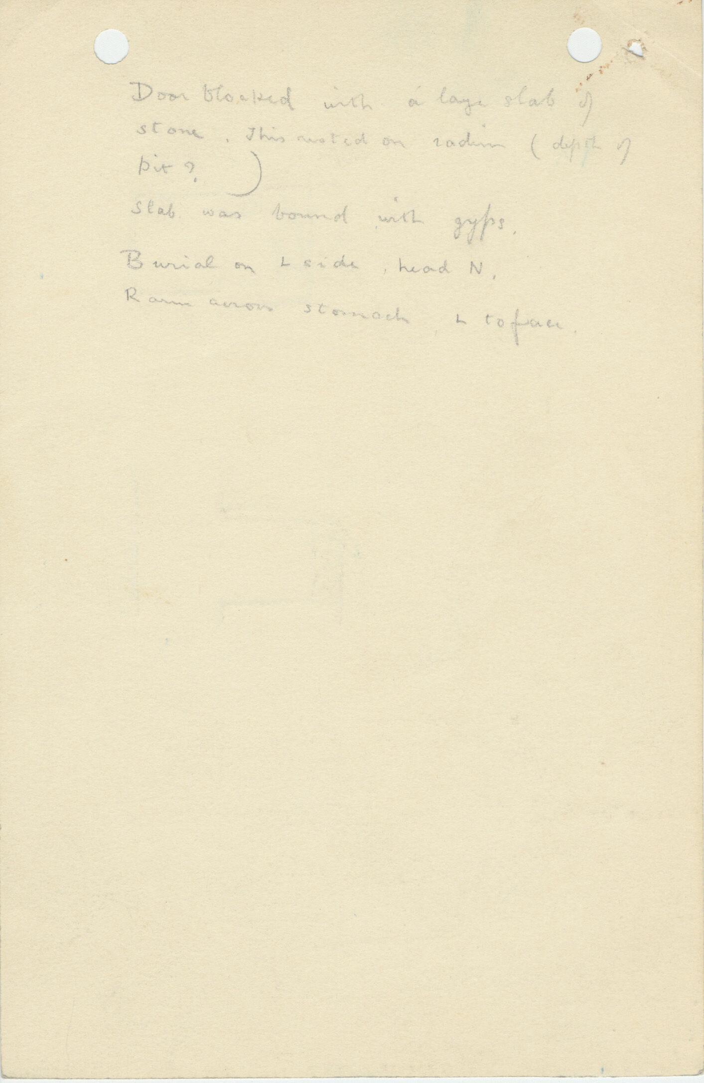 Notes: G 1119, Shaft B (I), notes