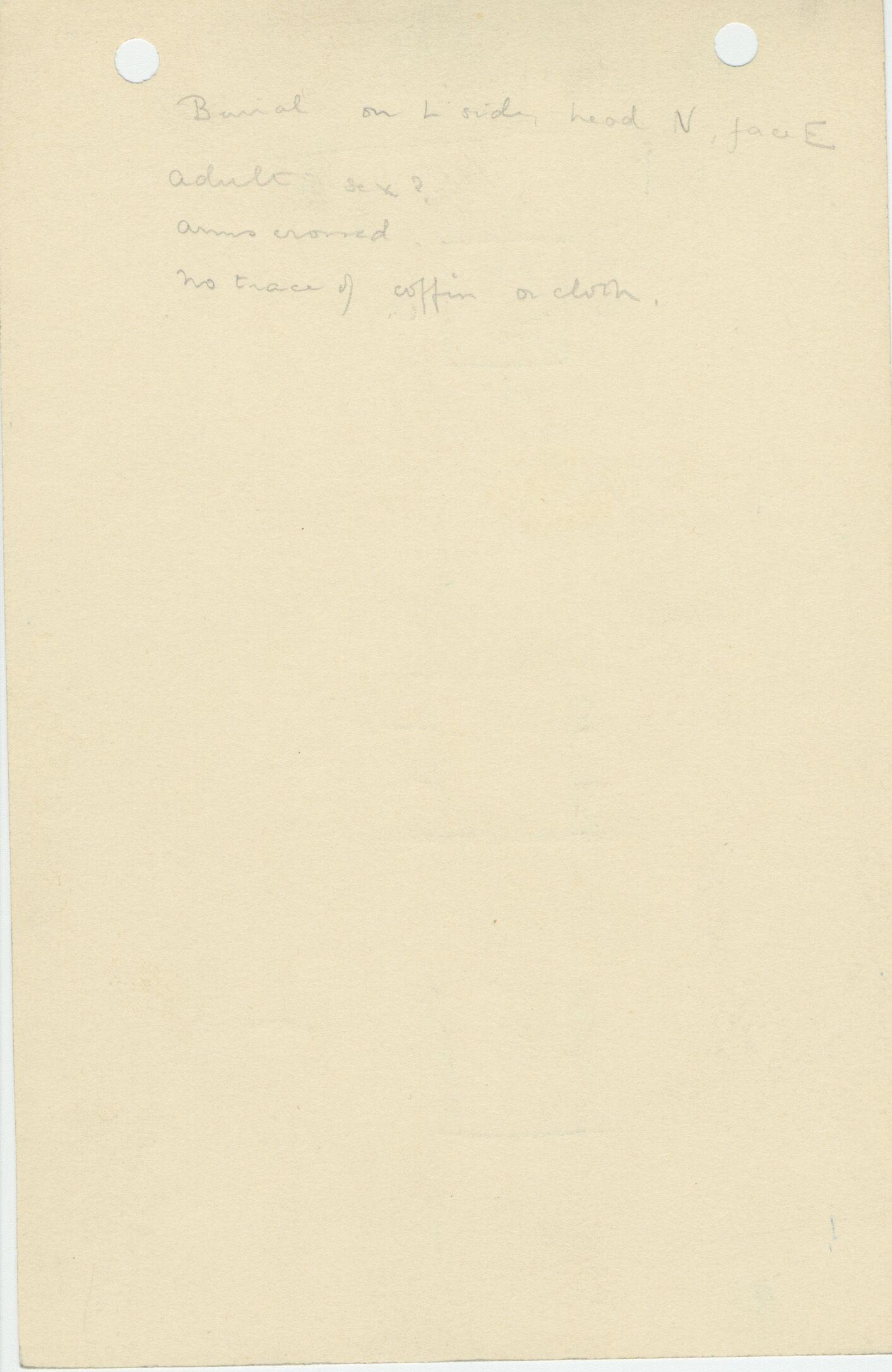 Notes: G 1120, Shaft B, notes