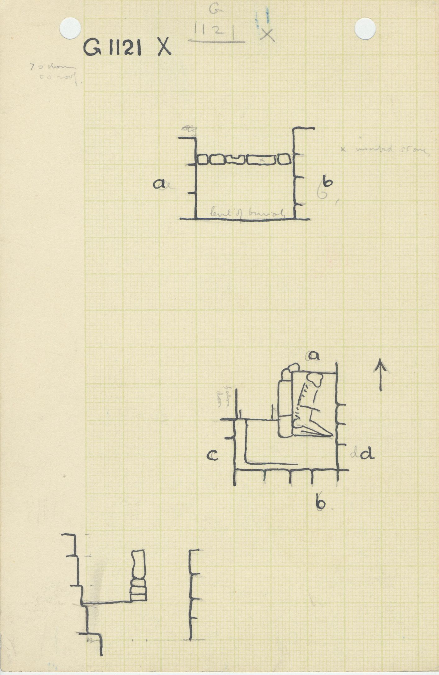 Maps and plans: G 1121, Shaft X