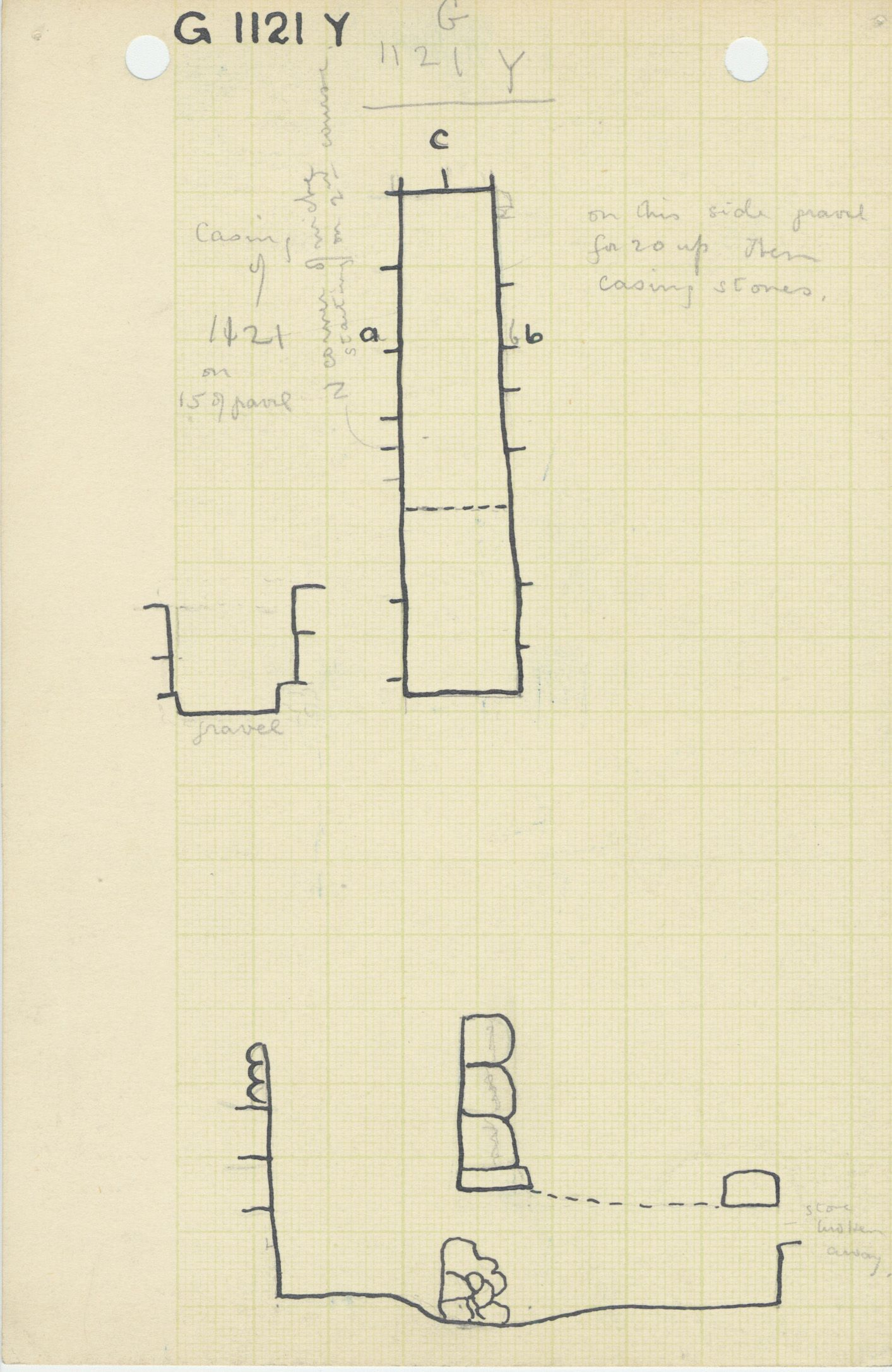 Maps and plans: G 1121, Shaft Y