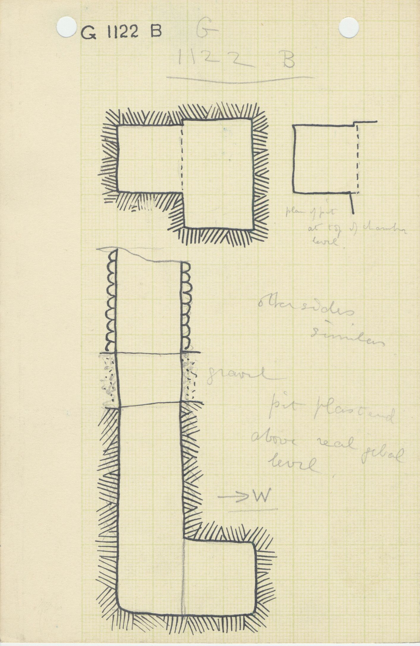Maps and plans: G 1122, Shaft B