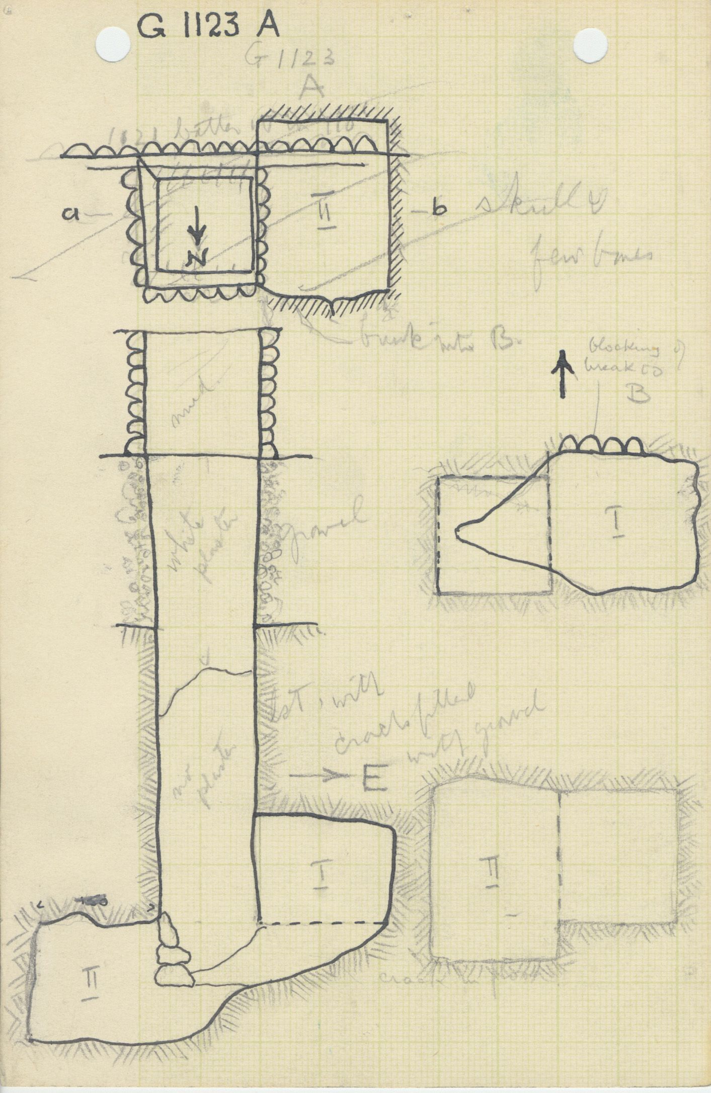 Maps and plans: G 1123, Shaft A